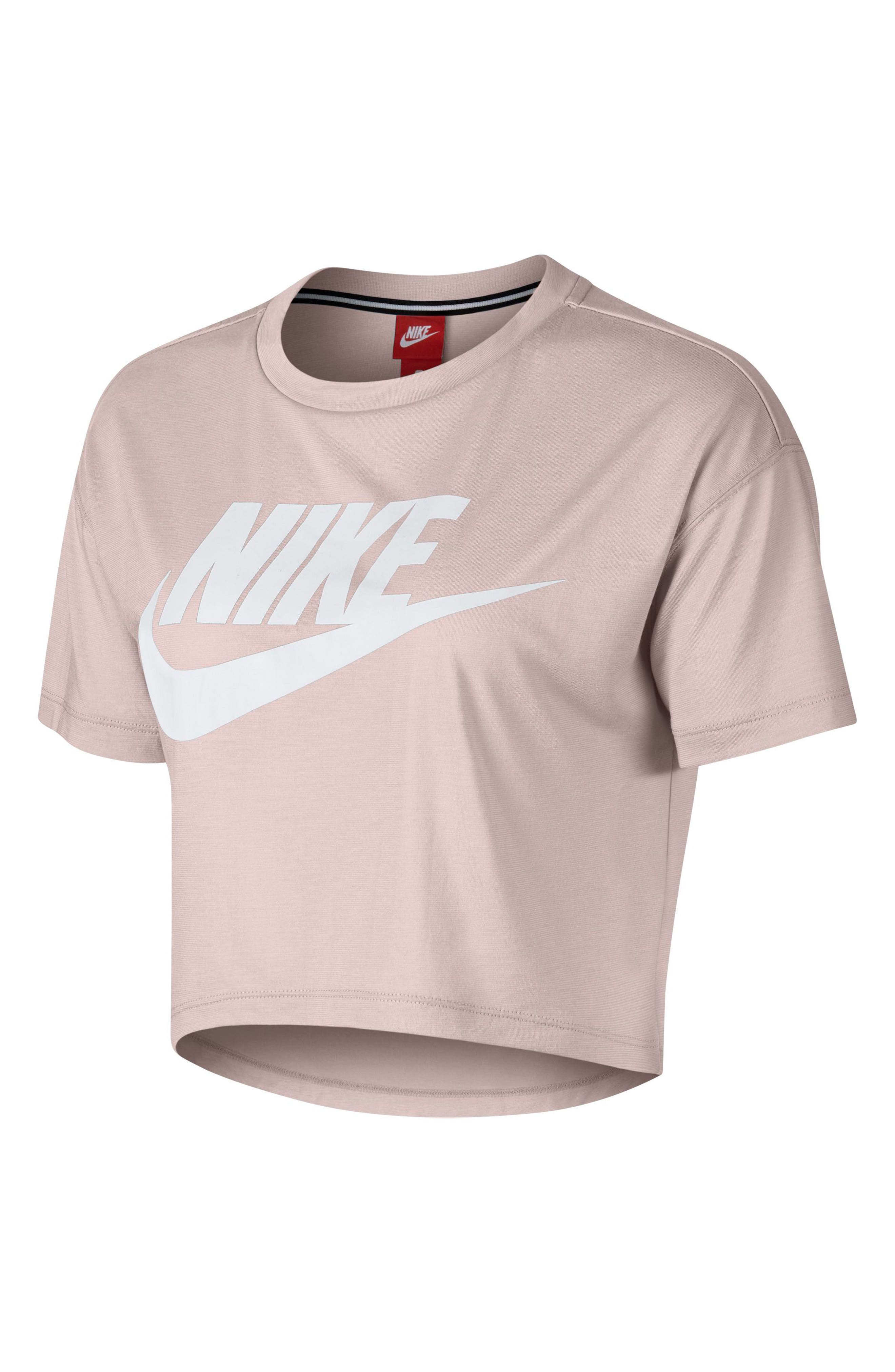 Sportswear Essential Women's Crop Top,                             Main thumbnail 1, color,                             Barely Rose/ White