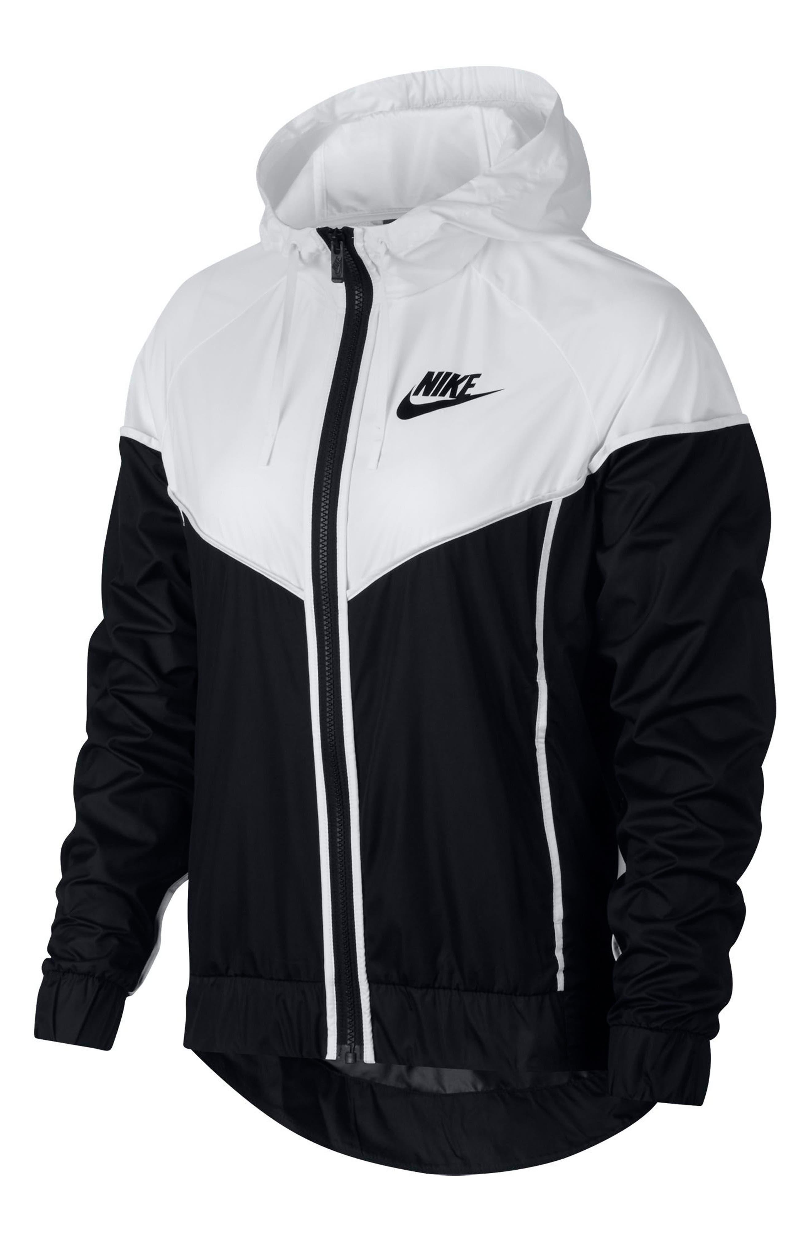 Sportswear Windrunner Jacket,                             Main thumbnail 1, color,                             Black/ White/ Black