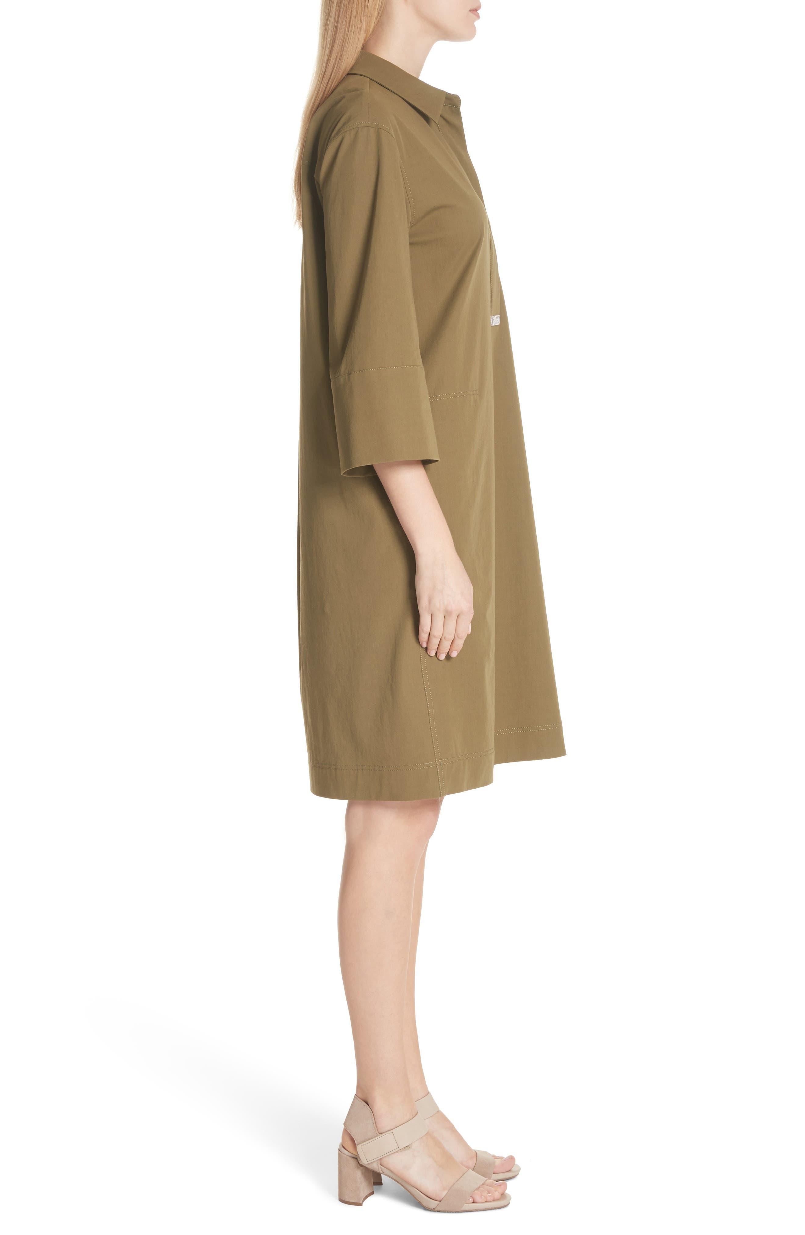 Cara Shift Dress,                             Alternate thumbnail 3, color,                             Lily Pad