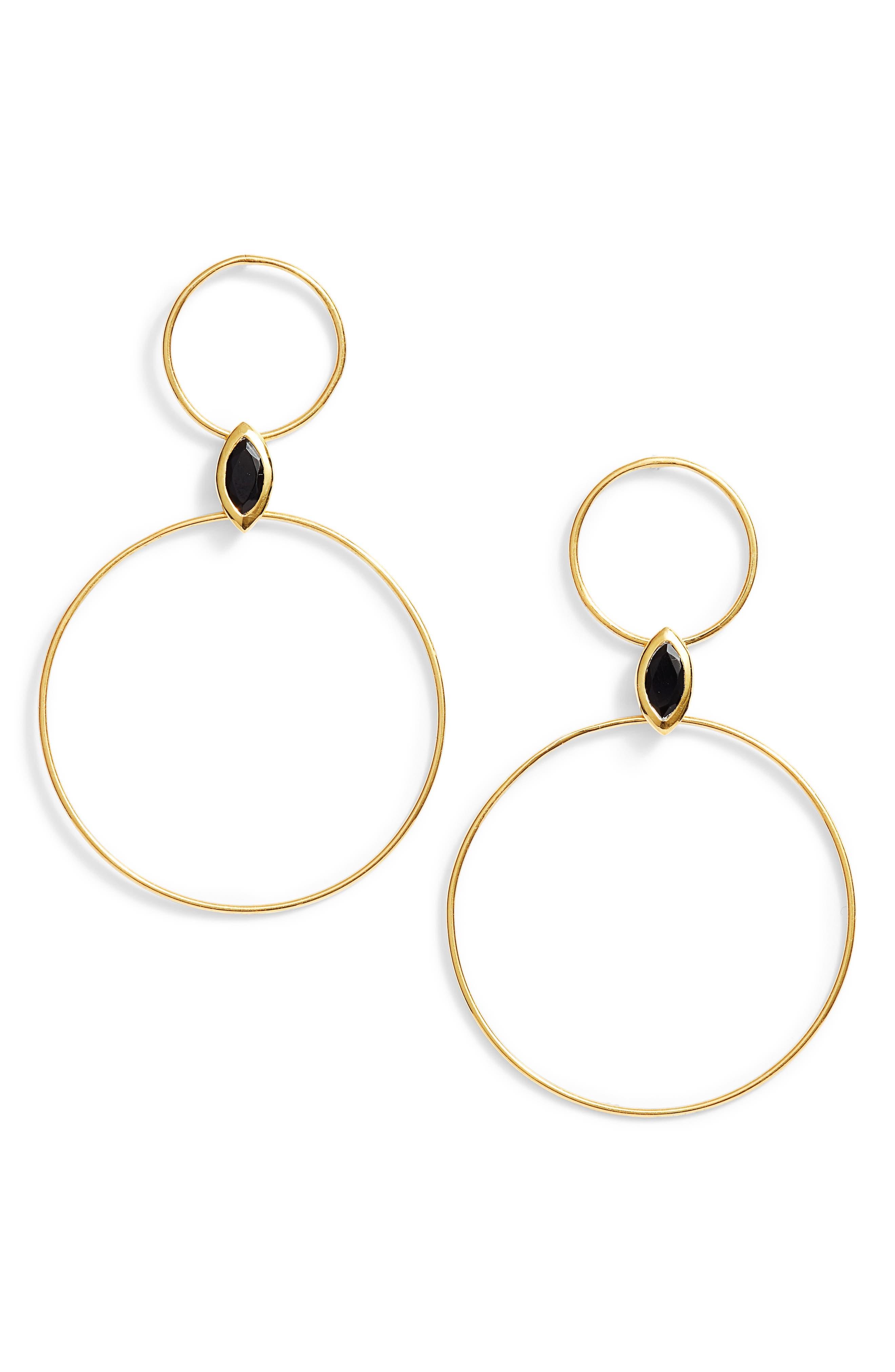 Argento Vivo Double Circle Drop Earrings