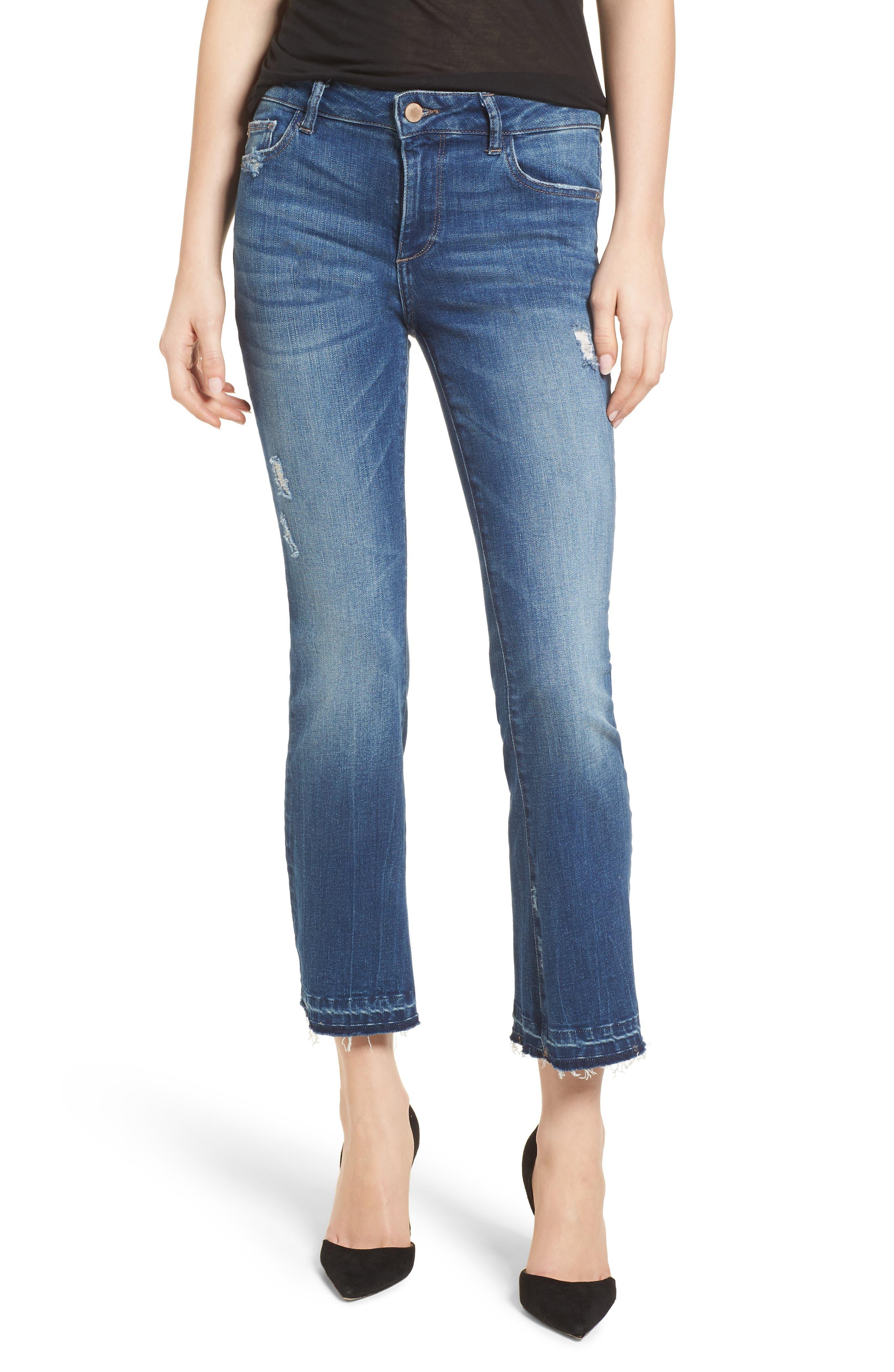 Lara Instasculpt Crop Flare Jeans,                         Main,                         color, Elmwood