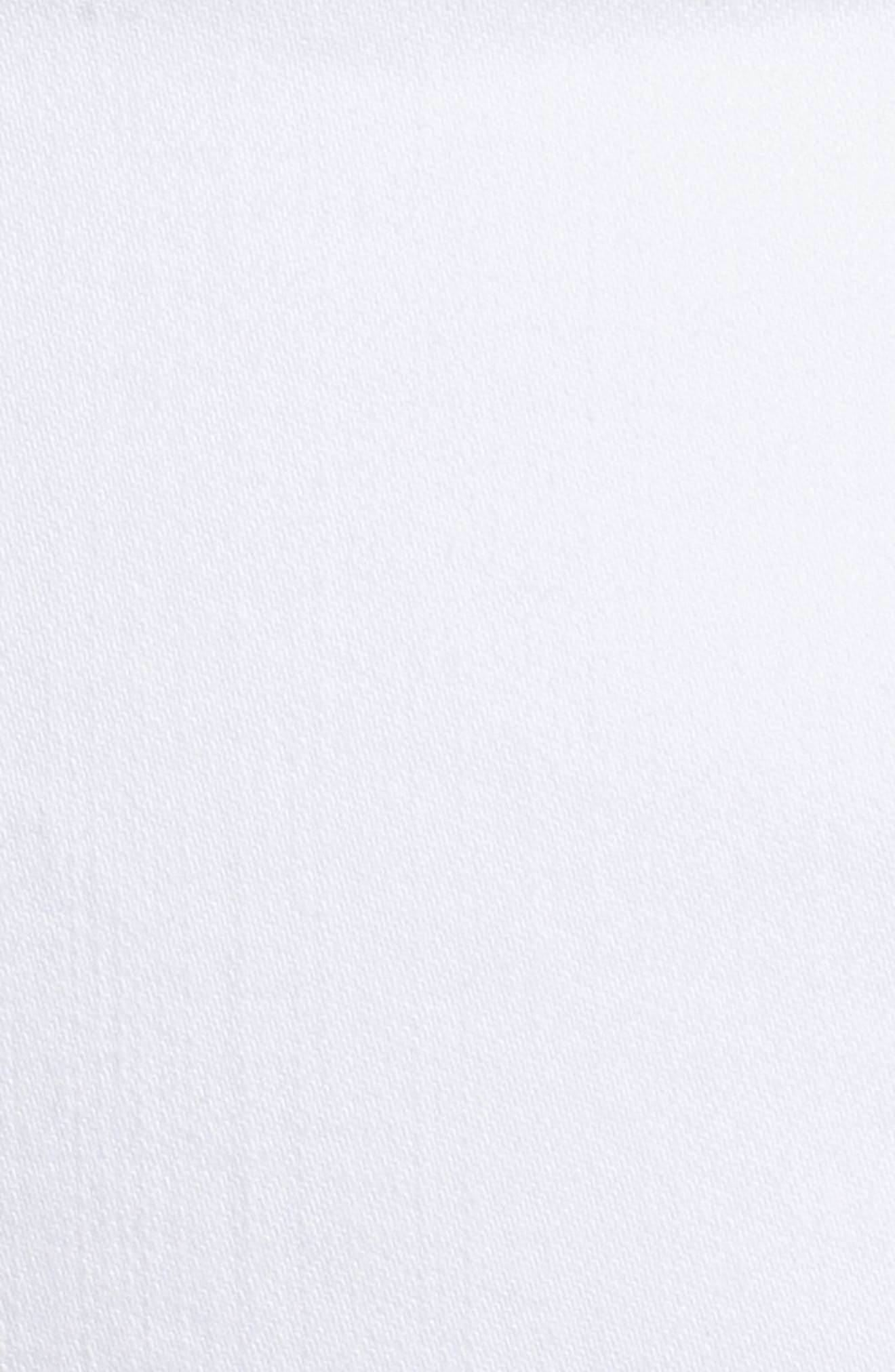 Ab-Solution White Denim Shorts,                             Alternate thumbnail 5, color,                             Optic White