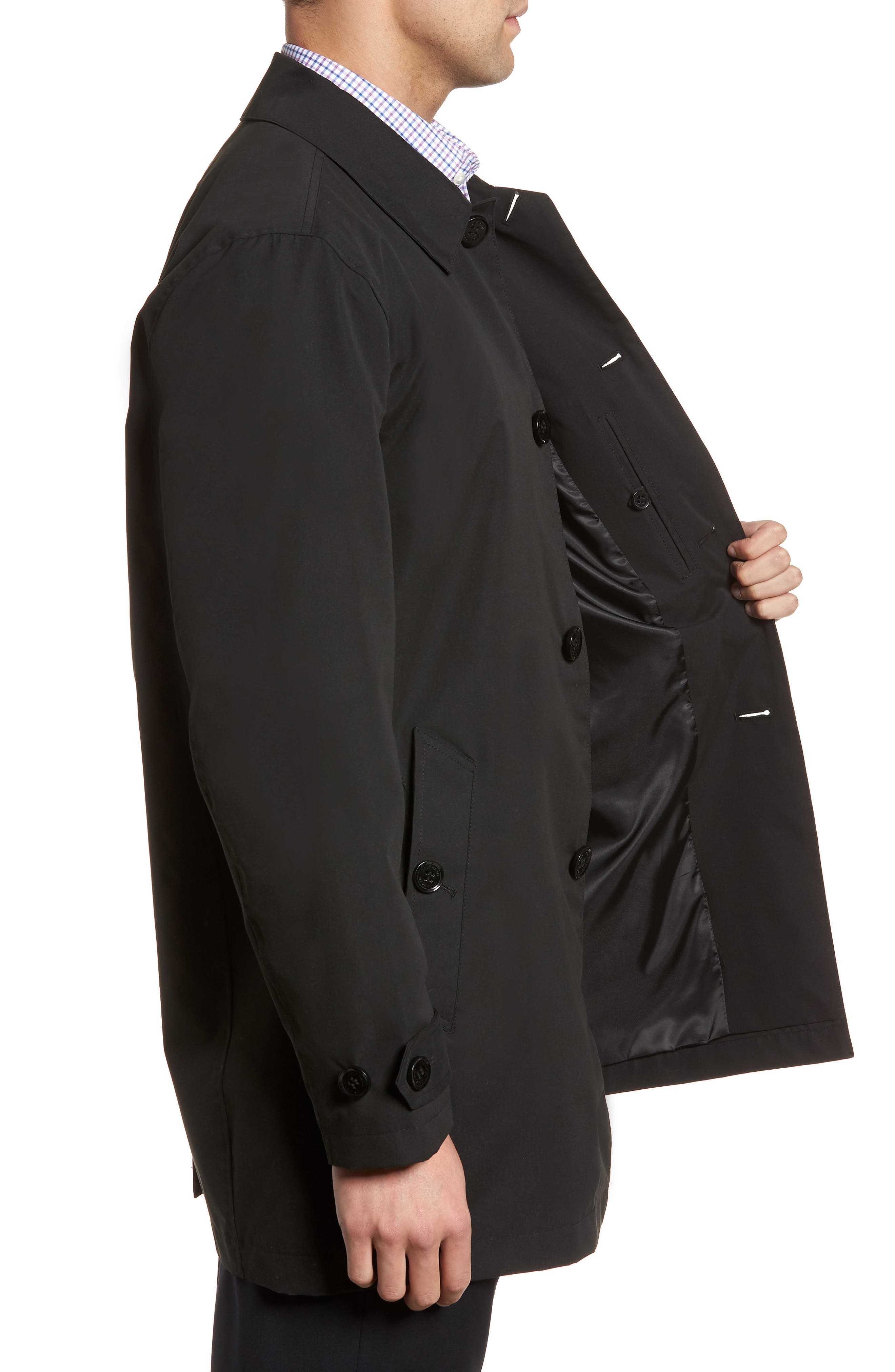Raincoat,                             Alternate thumbnail 3, color,                             Black