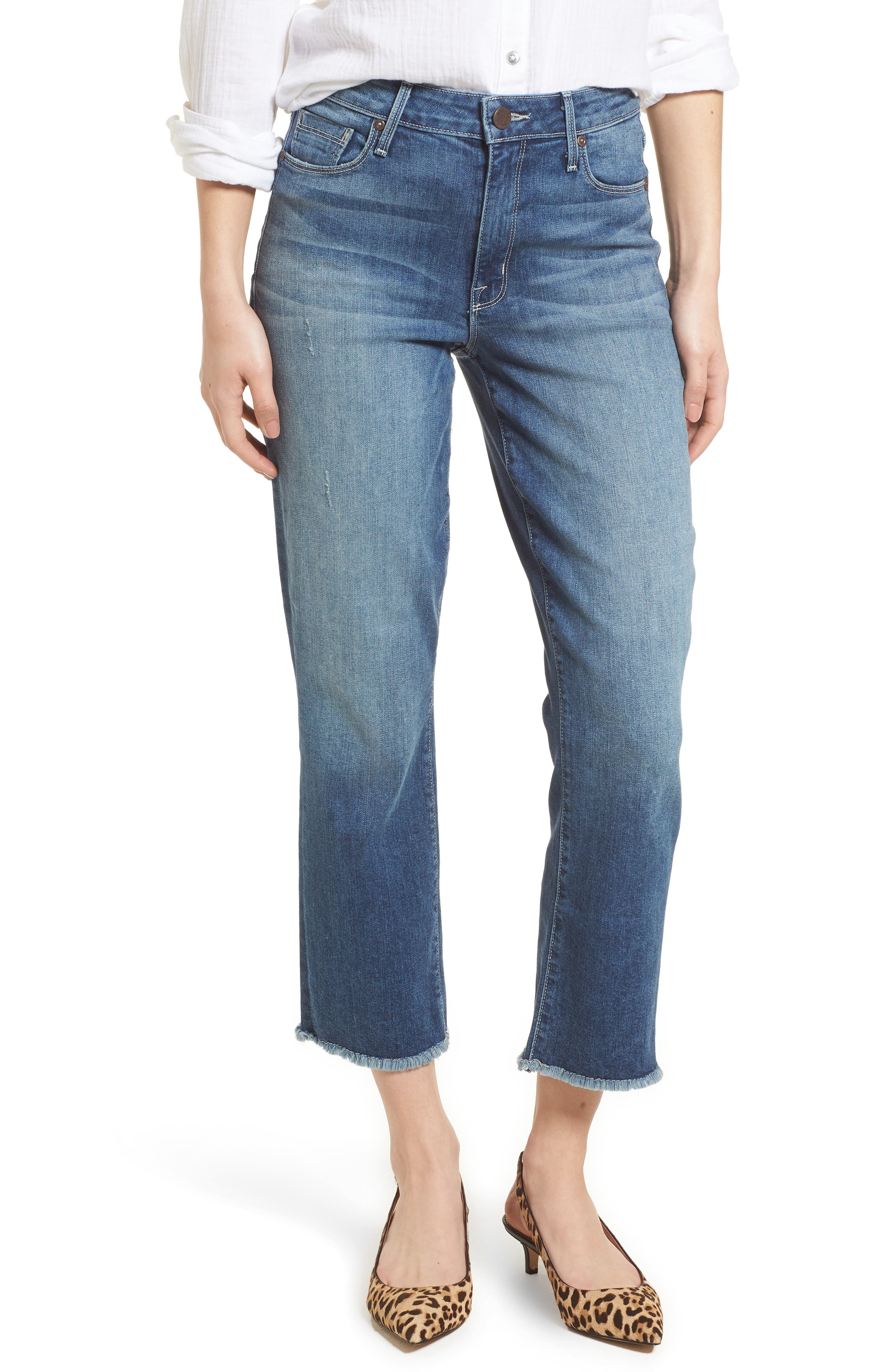 PARKER SMITH PIN-UP STRAIGHT CROP JEANS