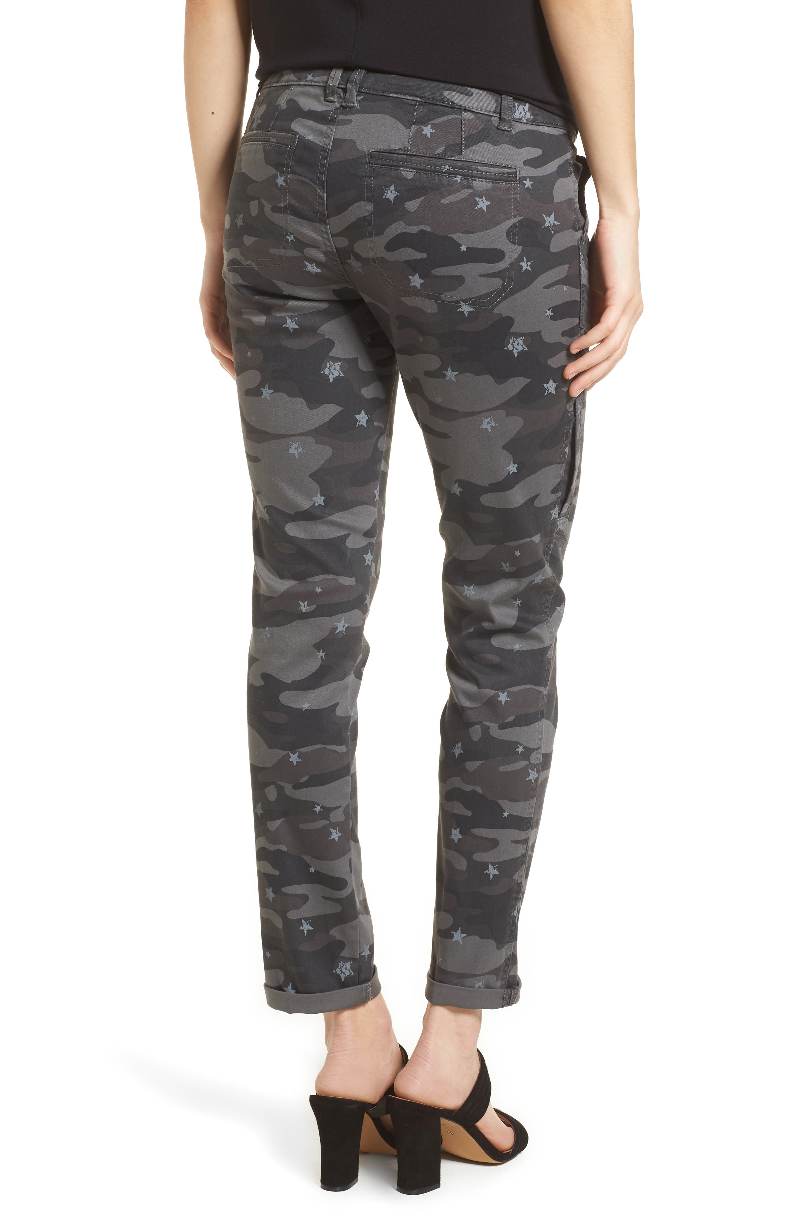 Twill Star Camo Cargo Pants,                             Alternate thumbnail 2, color,                             Cc- Charcoal
