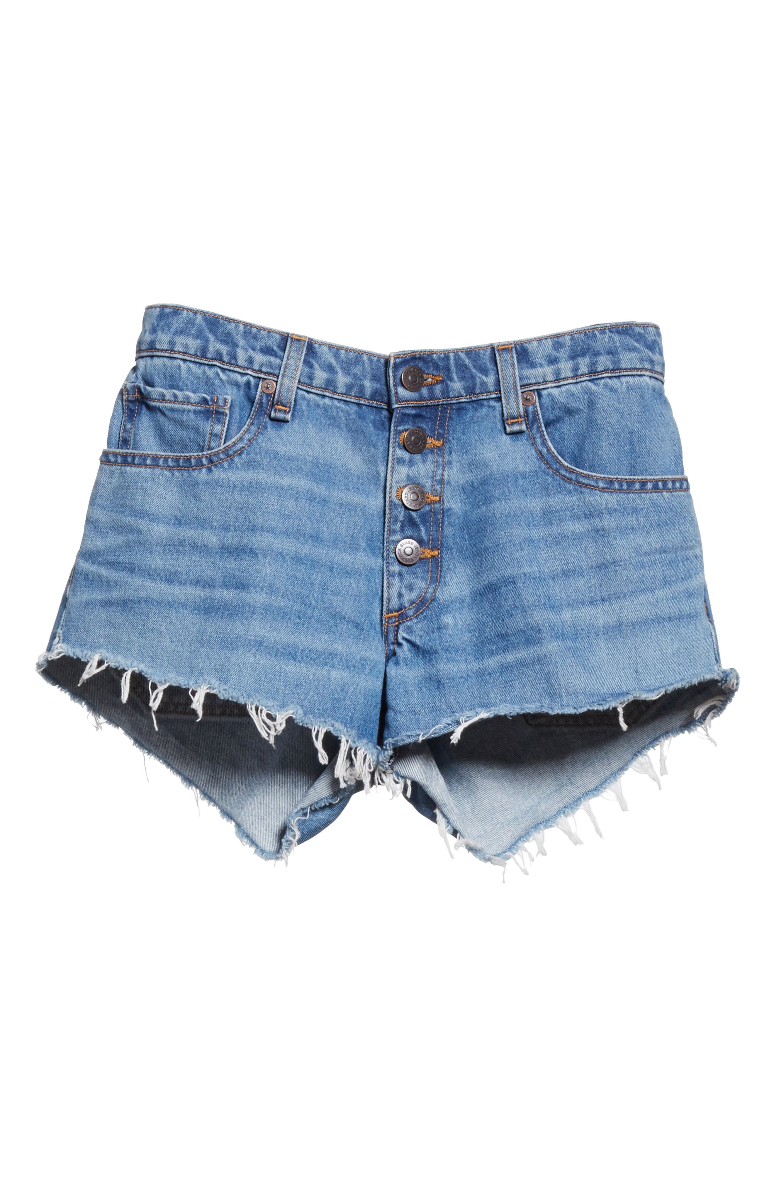Debbie Denim Shorts,                             Alternate thumbnail 6, color,                             Pipeline