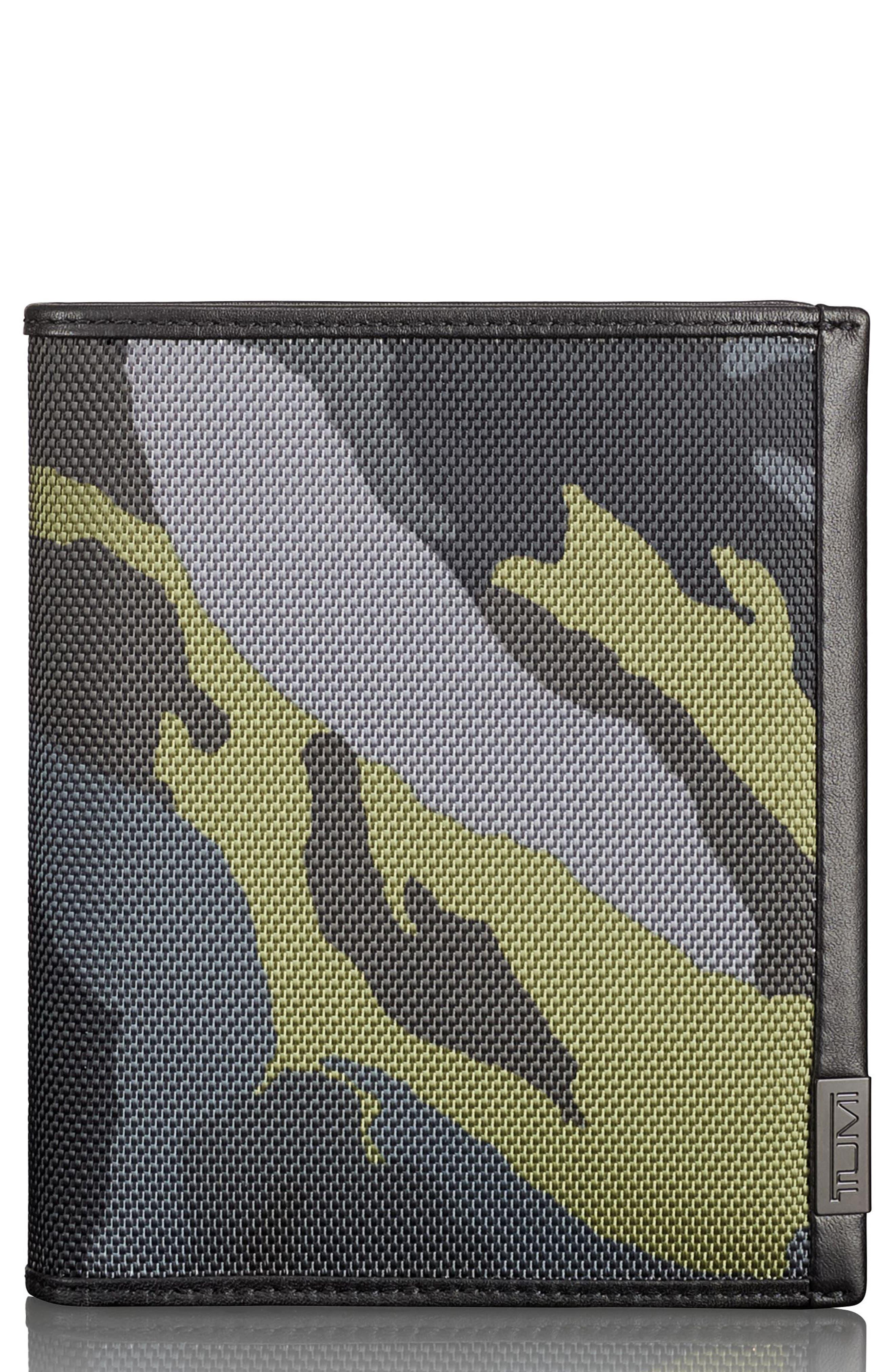 Alpha Passport Case,                             Main thumbnail 1, color,                             Green Camo