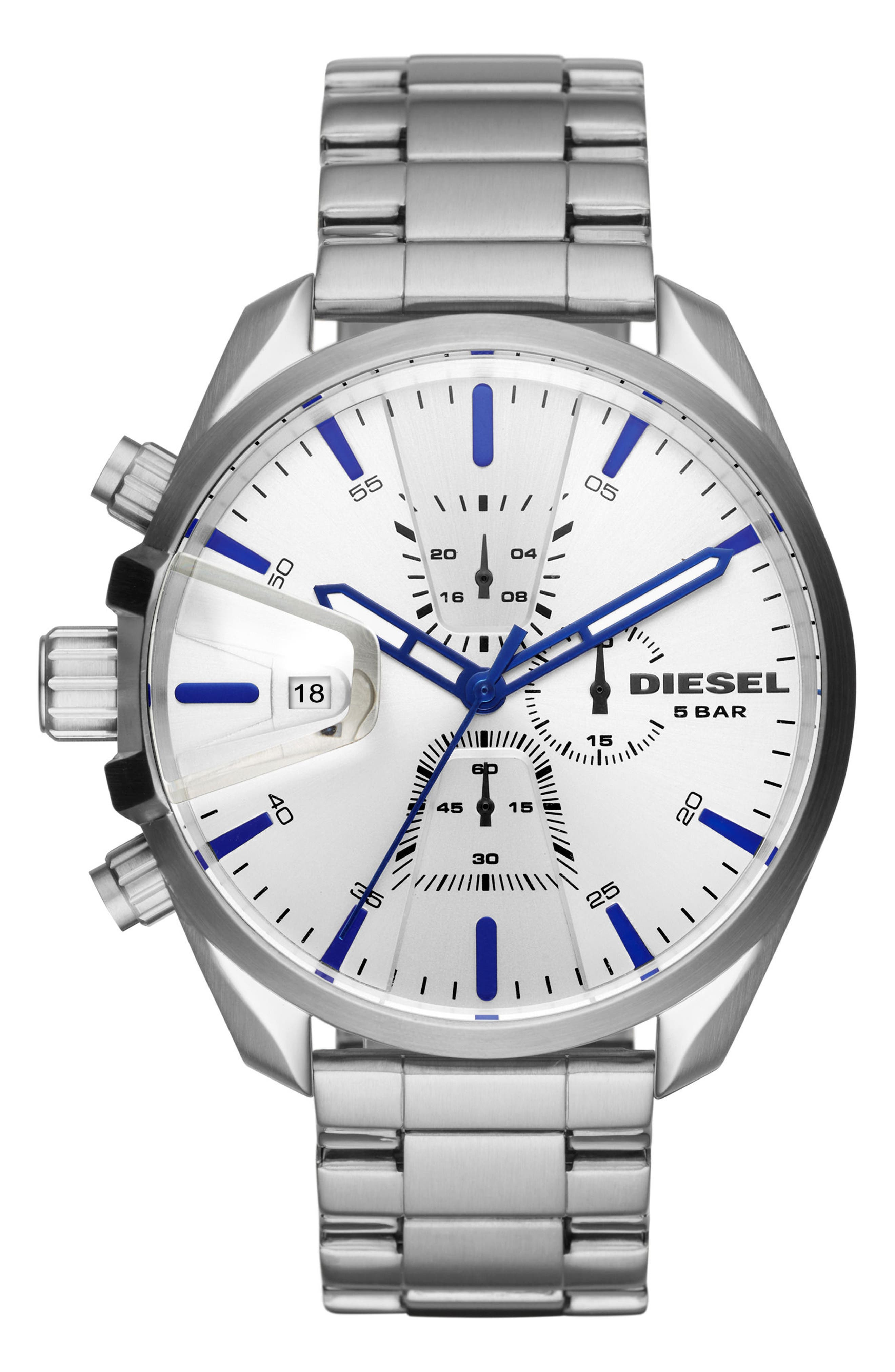MS9 Chronograph Bracelet Watch, 47mm,                         Main,                         color, Silver/ Stainless