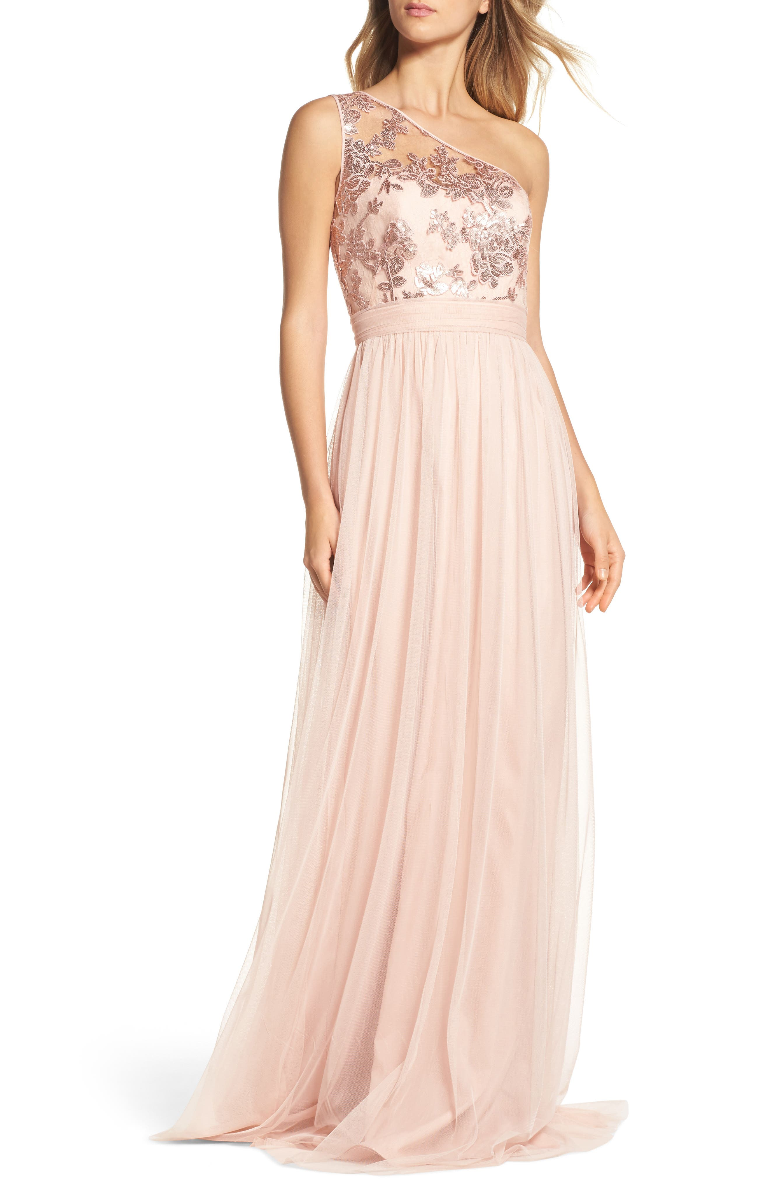 Embellished One Shoulder Dresses