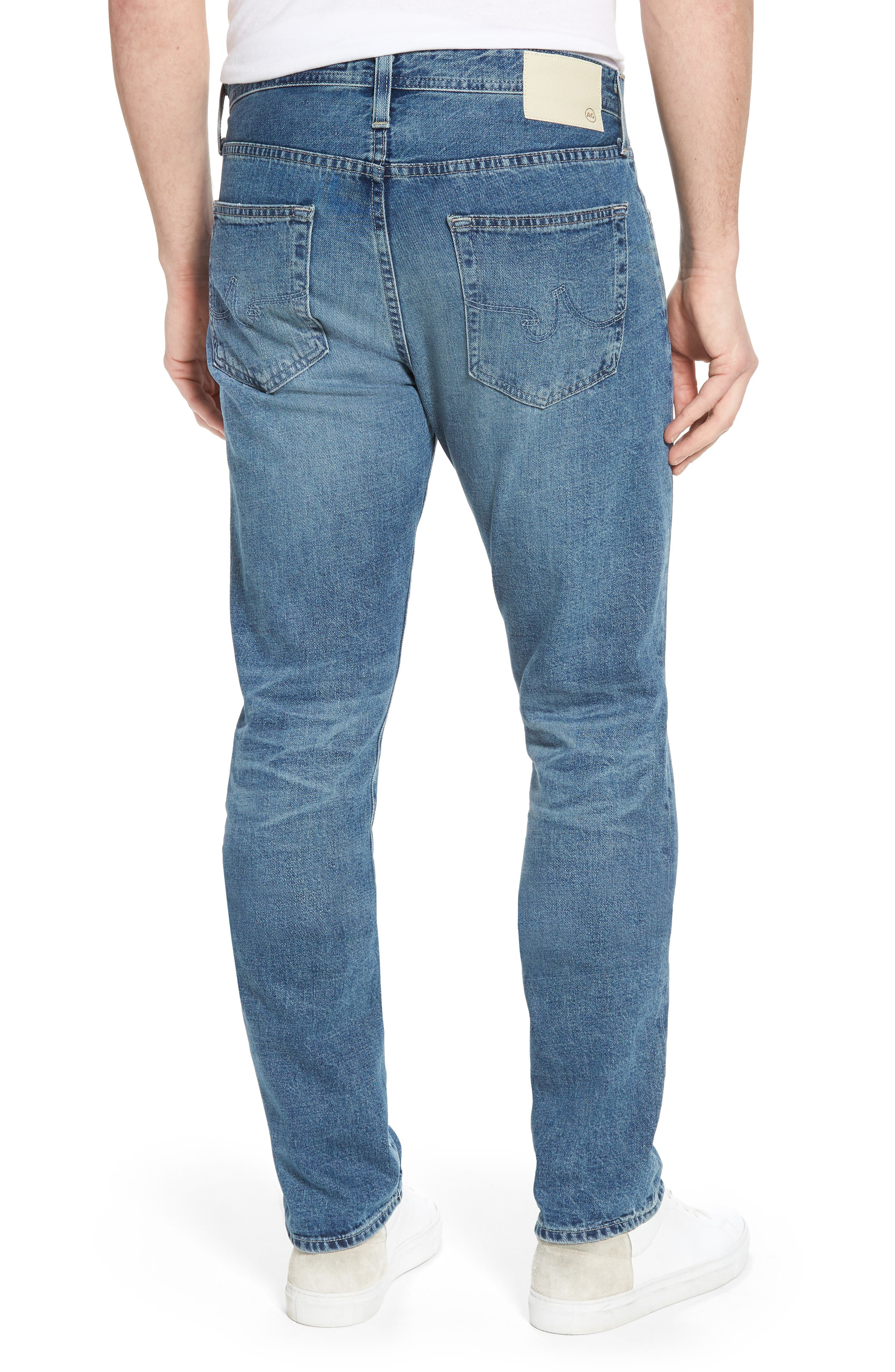 Alternate Image 2  - AG Pipe Slim Straight Leg Jeans (15 Years Laguna)