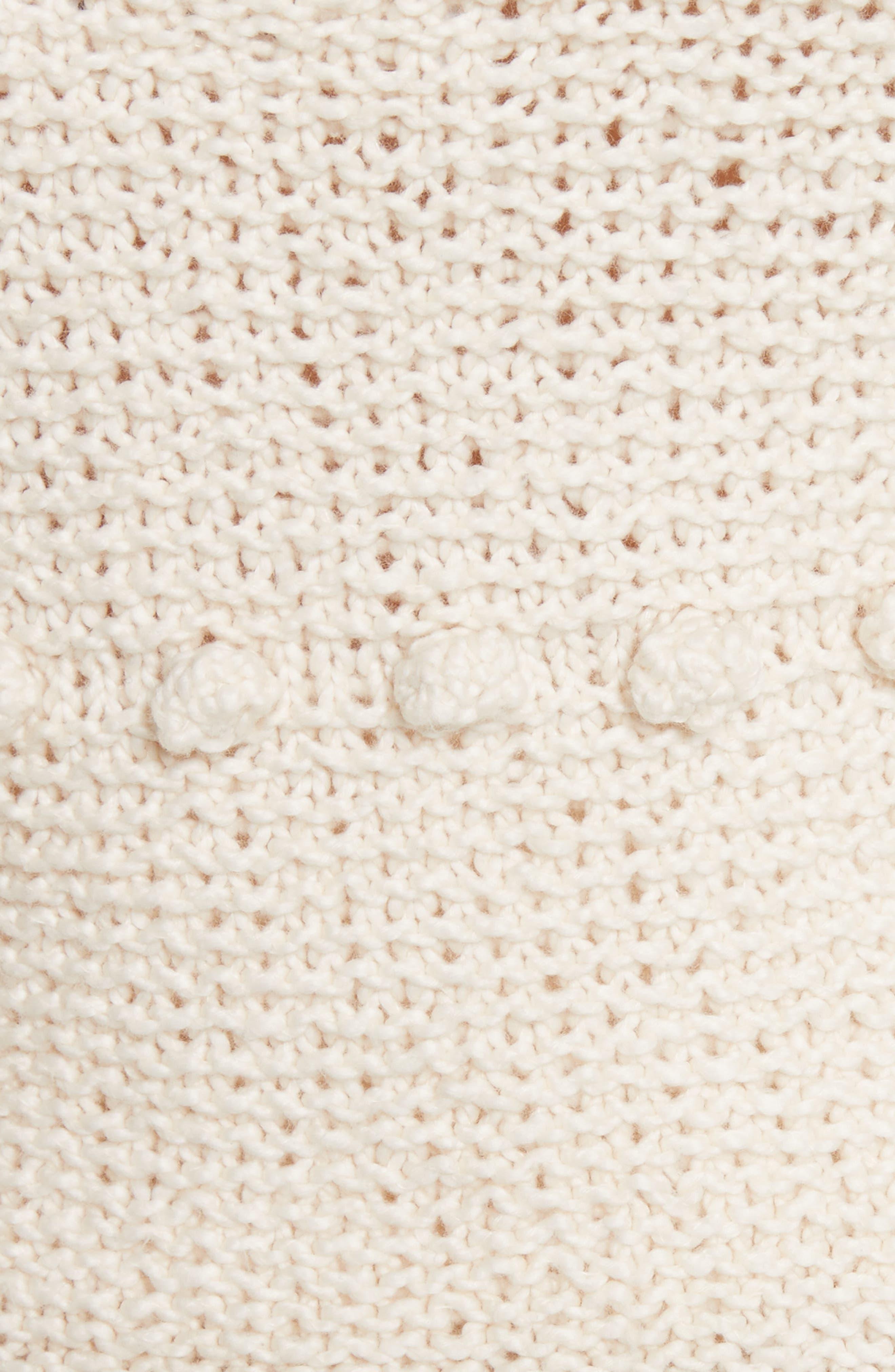 Hyacinth Pompom Stripe Sweater,                             Alternate thumbnail 5, color,                             Natural