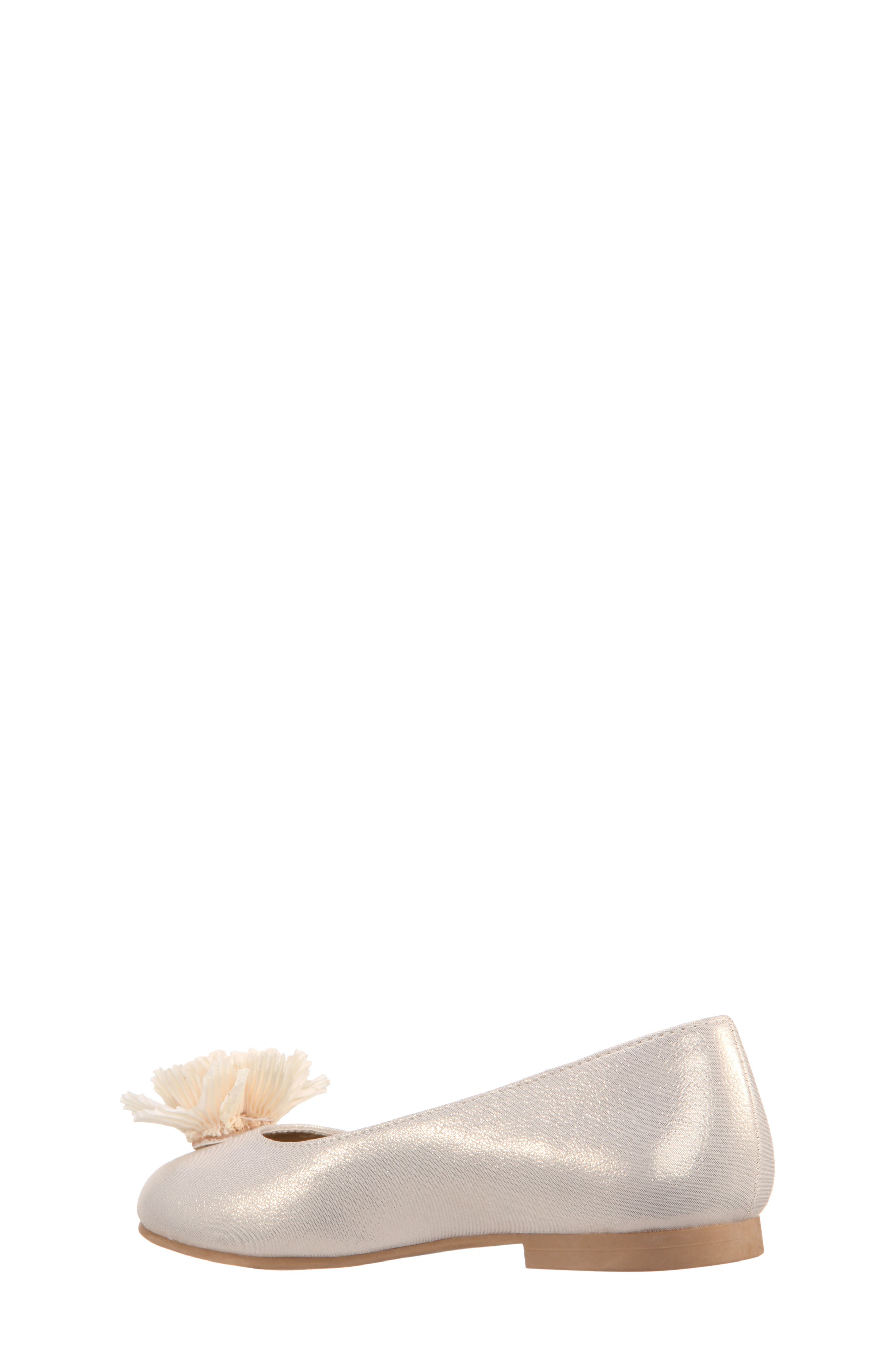 Jemma Flower Ballet Flat,                             Alternate thumbnail 2, color,                             Platino Metallic