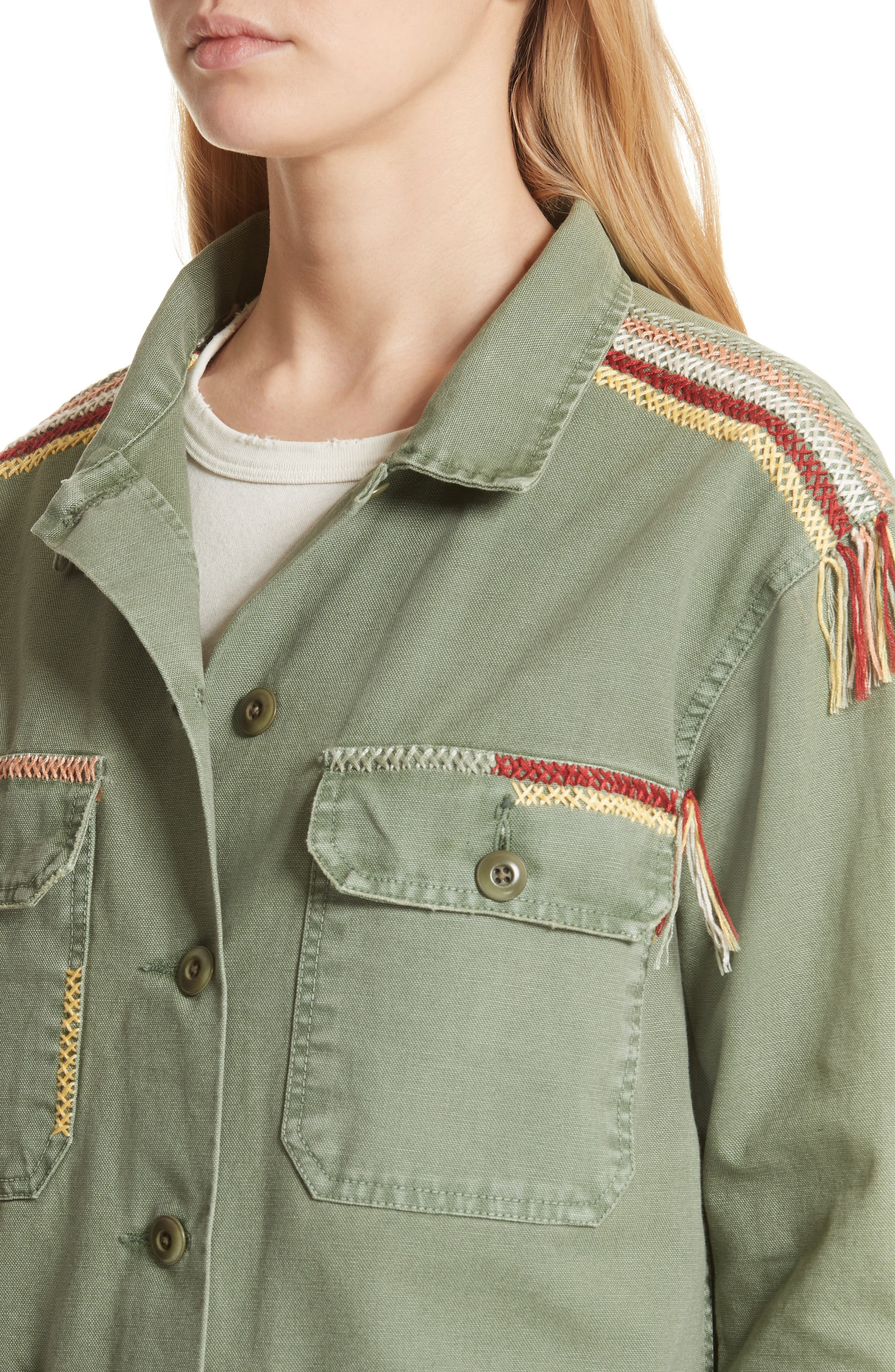 The Sergeant Embroidered Jacket,                             Alternate thumbnail 4, color,                             Worn Army