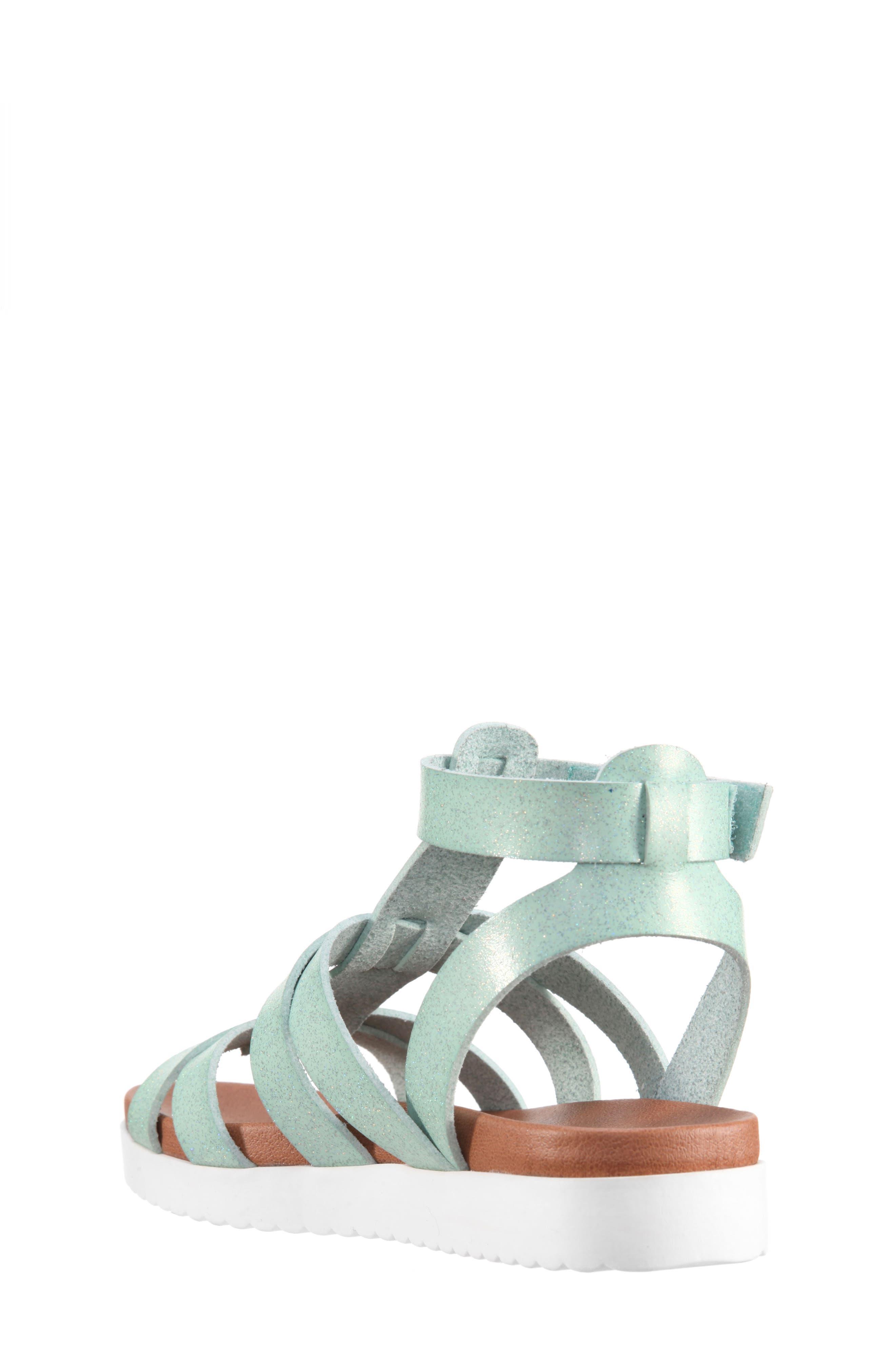 Alpha Gladiator Sandal,                             Alternate thumbnail 2, color,                             Mint Dip Dye