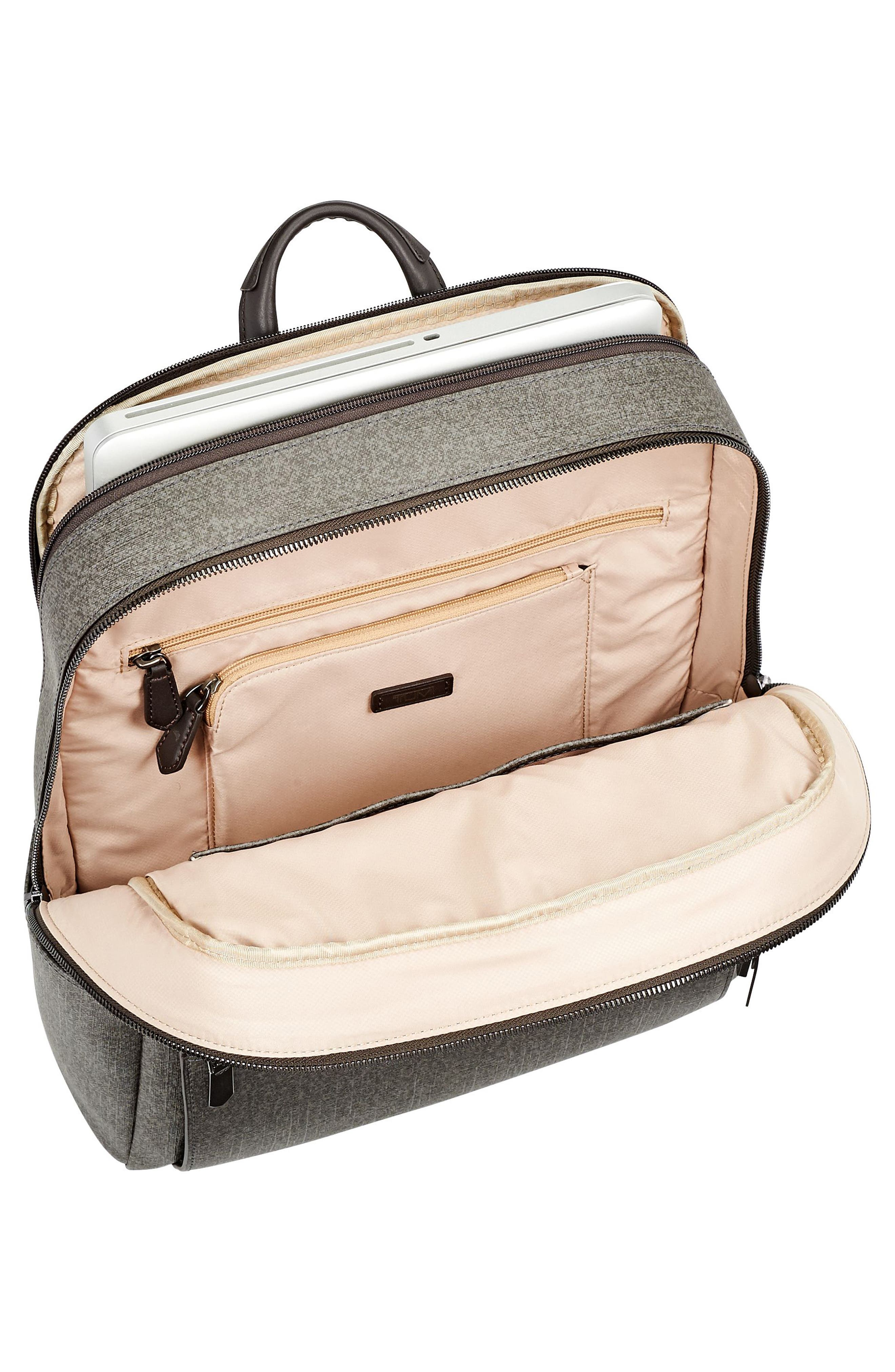Stanton Becca Coated Canvas Backpack,                             Alternate thumbnail 4, color,                             Earl Grey