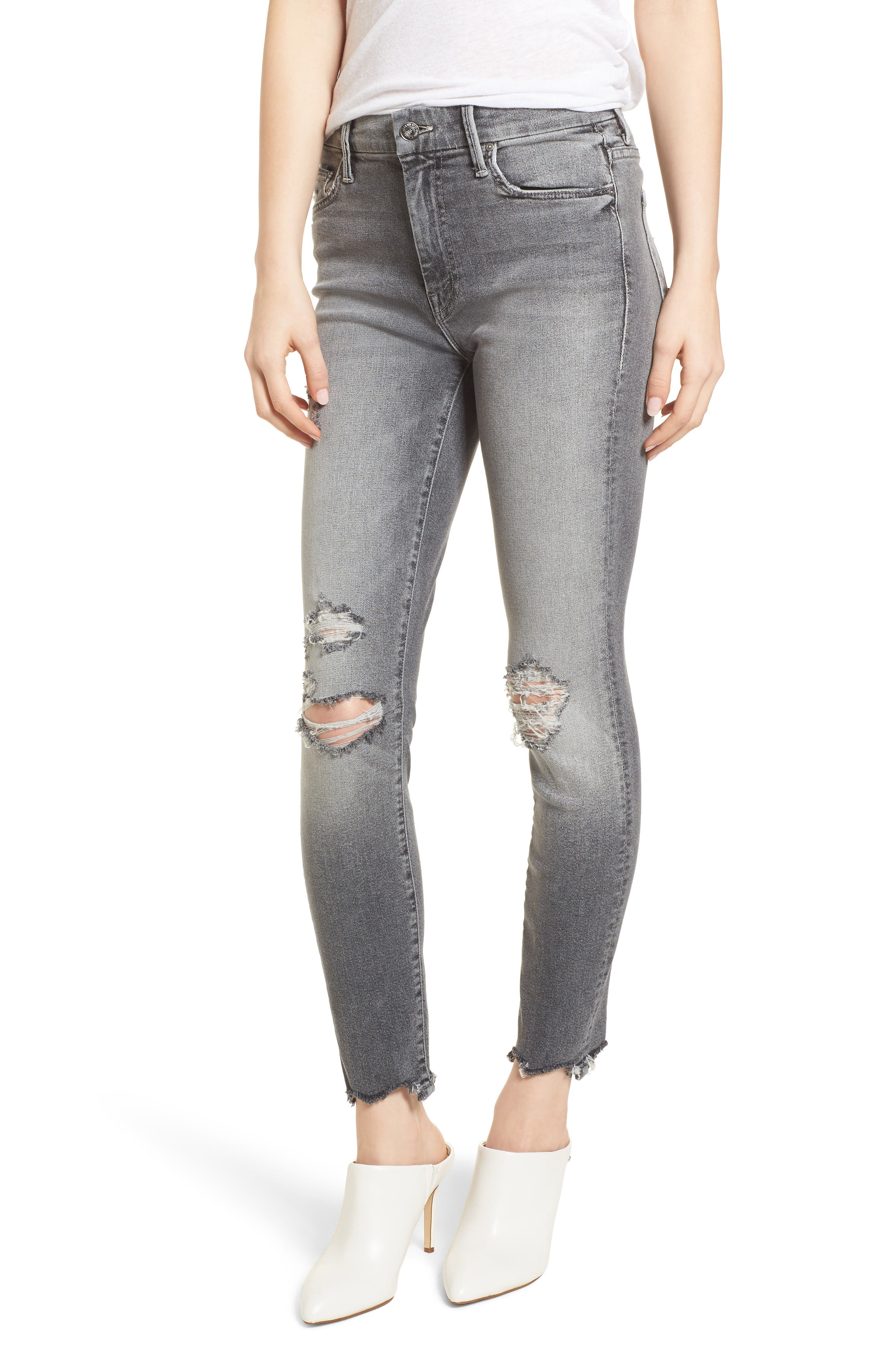 MOTHER The Looker High Waist Ankle Skinny Jeans (Scene of the Crime)