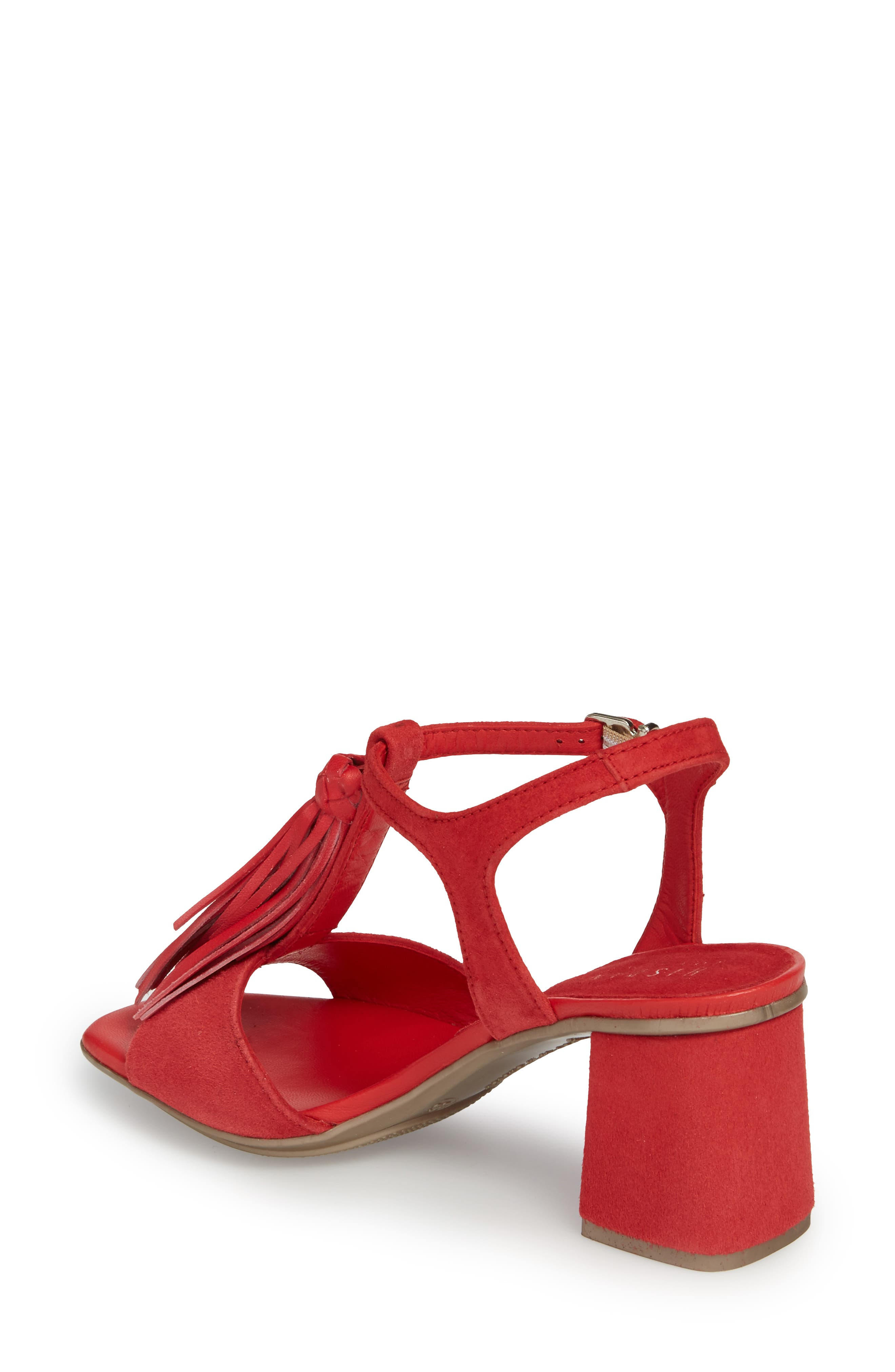 Schulyer T-Strap Sandal,                             Alternate thumbnail 2, color,                             Rubi Leather