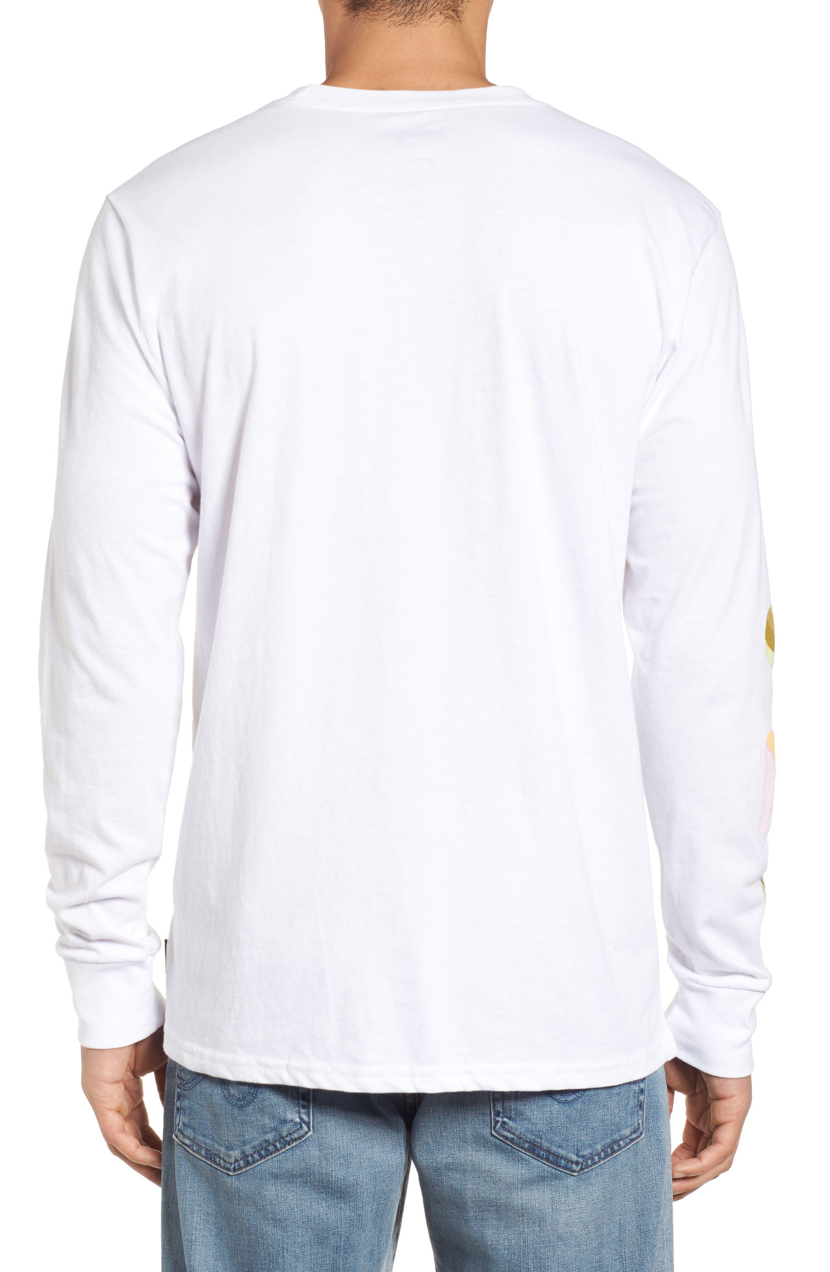 Wandering Eye Embroidered Long Sleeve T-Shirt,                             Alternate thumbnail 2, color,                             White