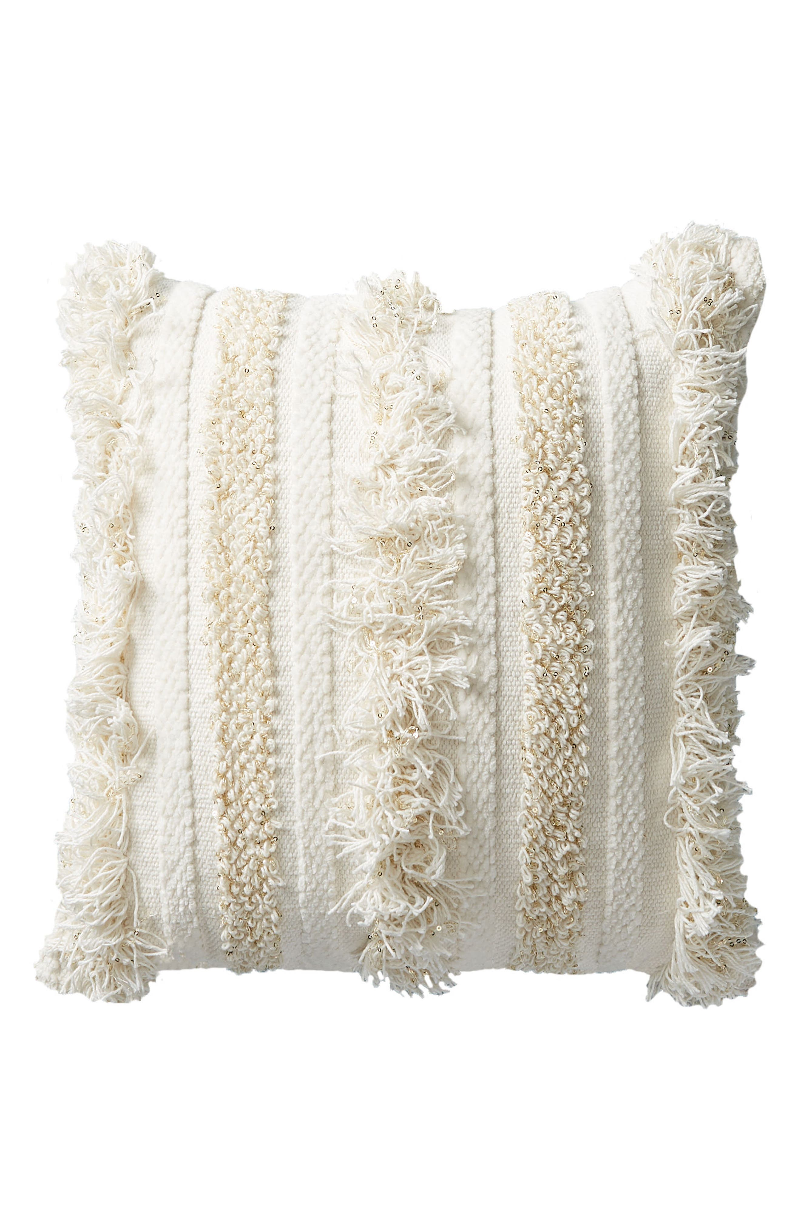 Indira Accent Pillow,                             Alternate thumbnail 8, color,                             White/ Ivory