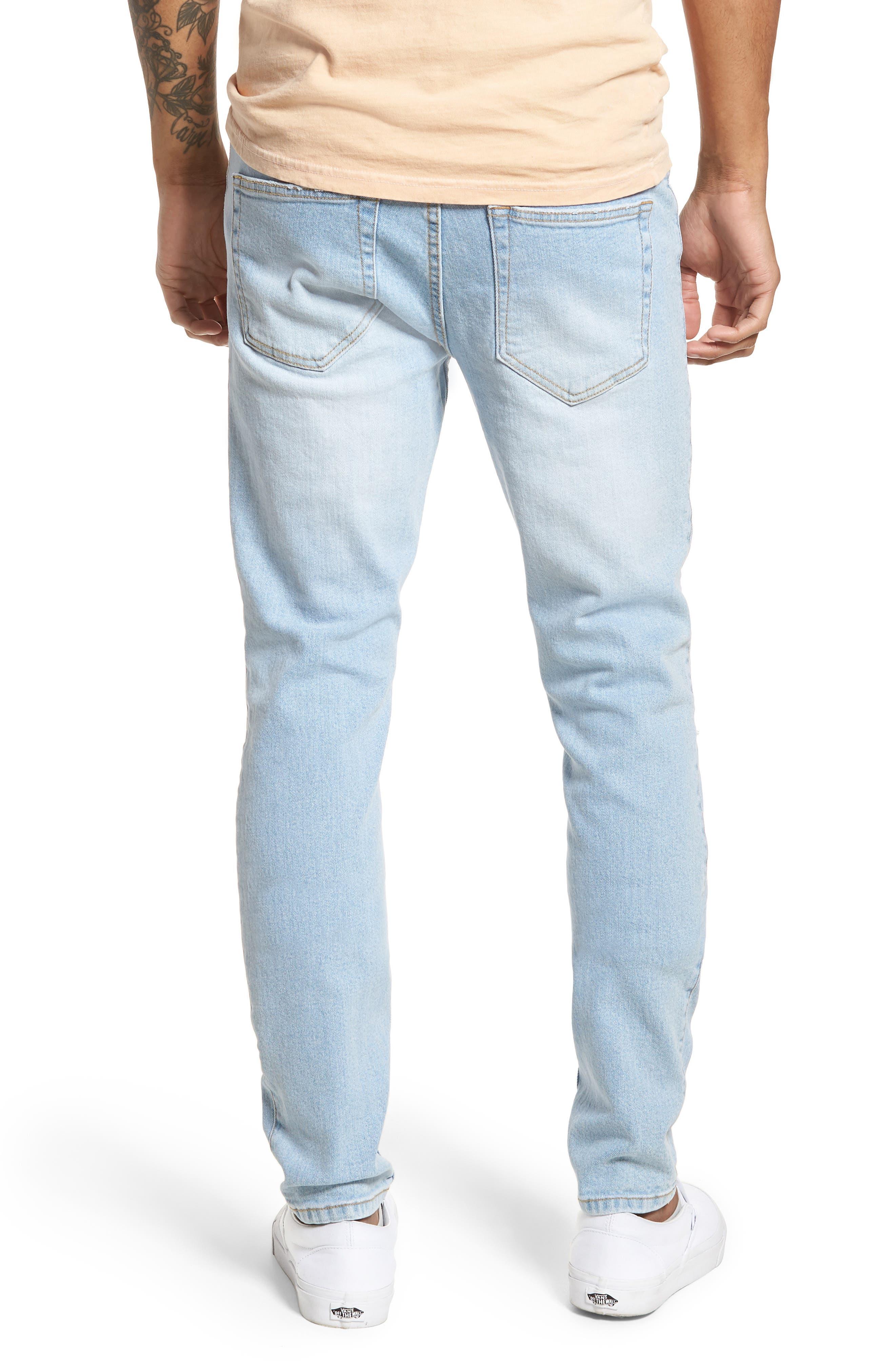 Clark Slim Straight Leg Jeans,                             Alternate thumbnail 2, color,                             Superlight Blue Ripped