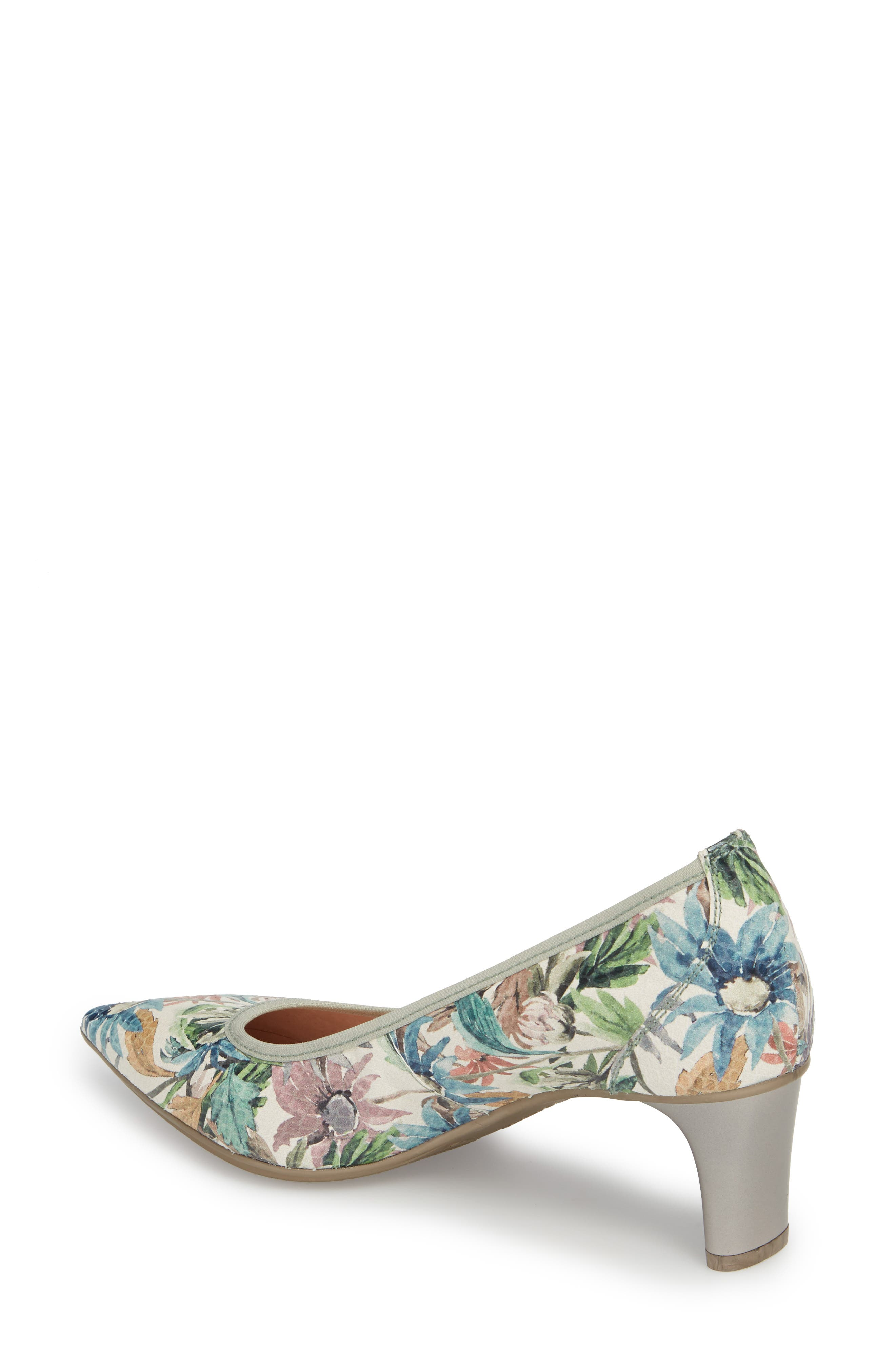 Melanie Pointy Toe Pump,                             Alternate thumbnail 2, color,                             Blossom Leather