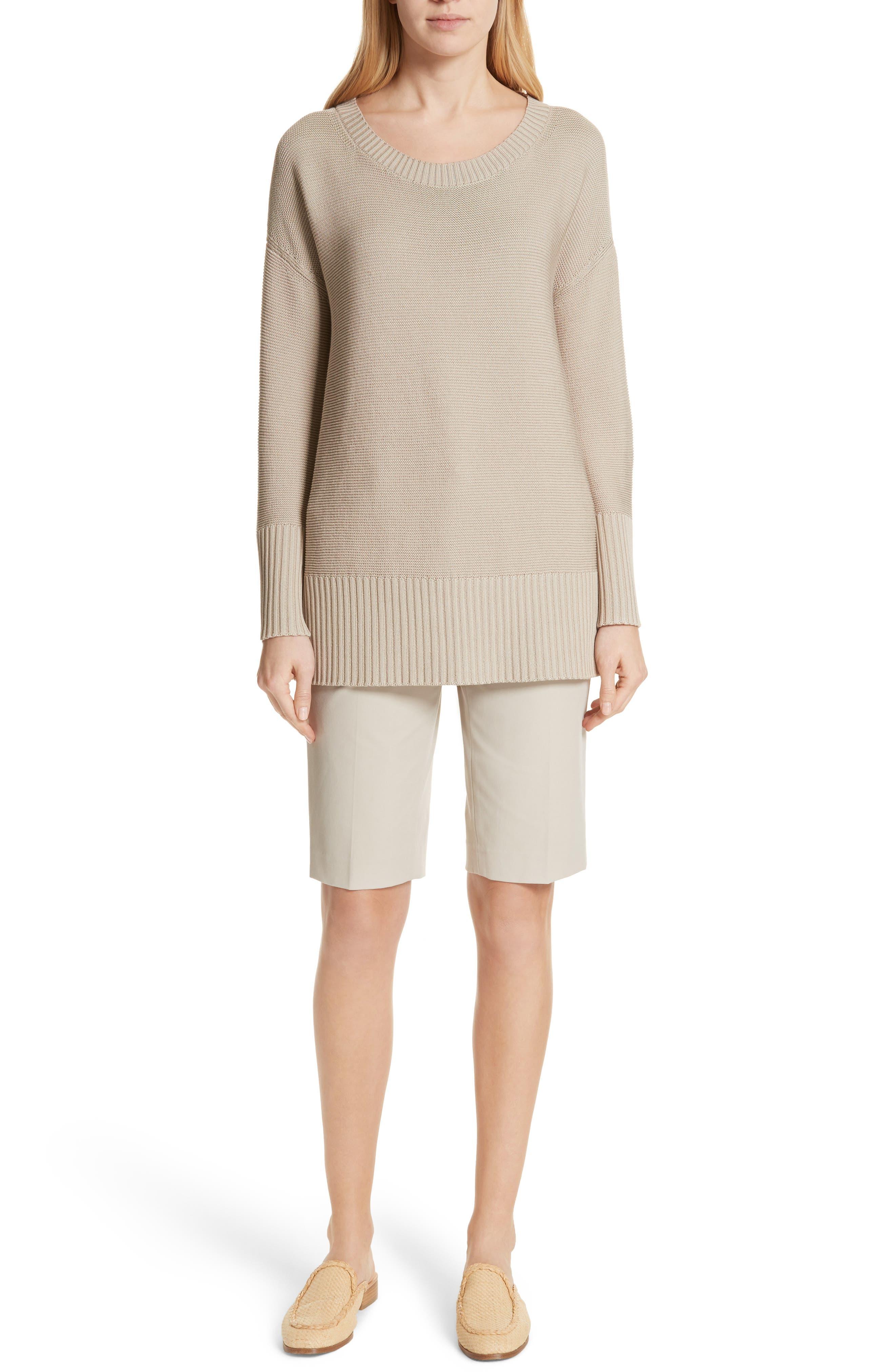 Cotton & Silk Sweater,                             Alternate thumbnail 7, color,                             Khaki