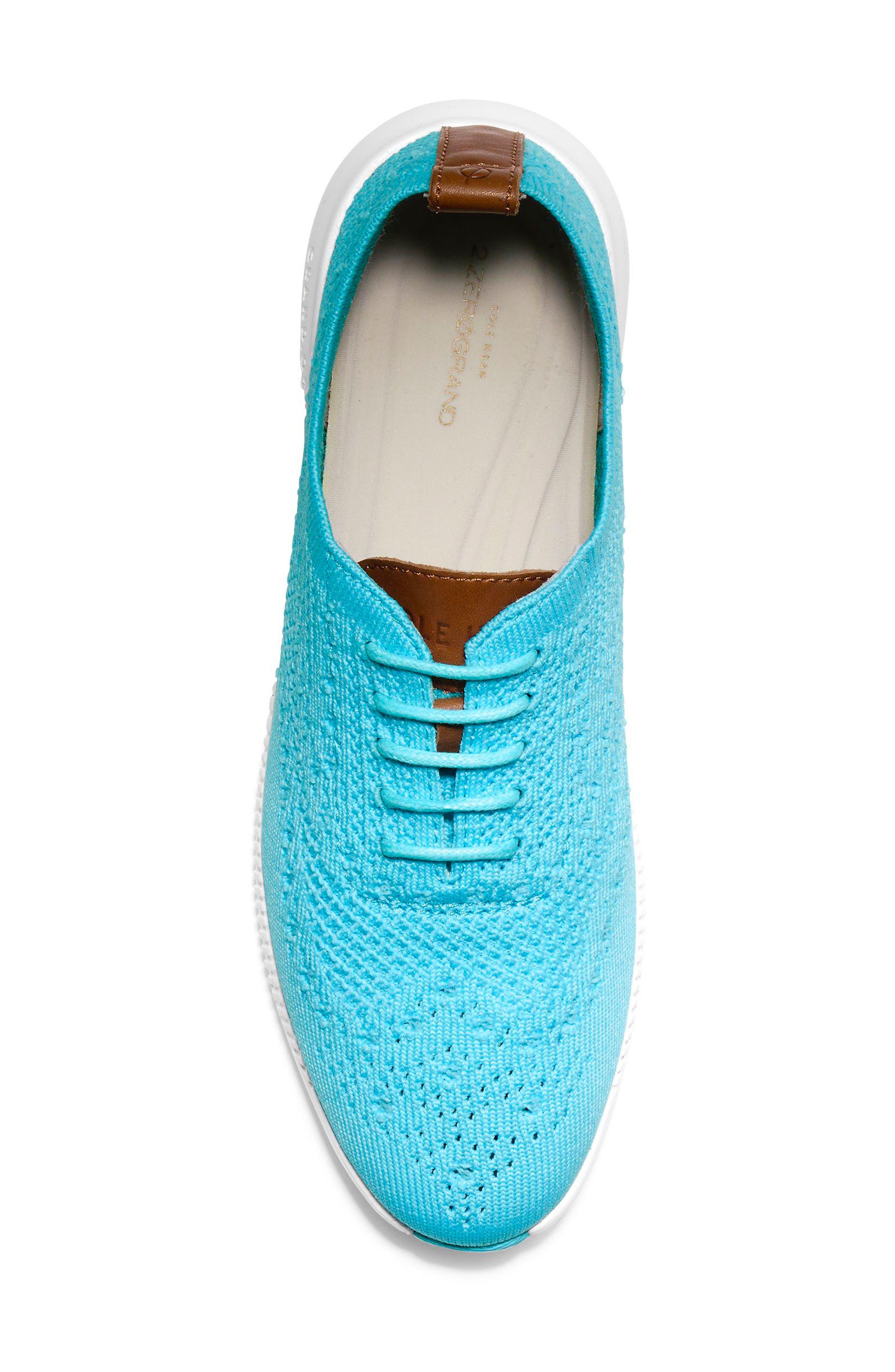2.ZERØGRAND Stitchlite Wingtip Sneaker,                             Alternate thumbnail 6, color,                             Bluefish Fabric