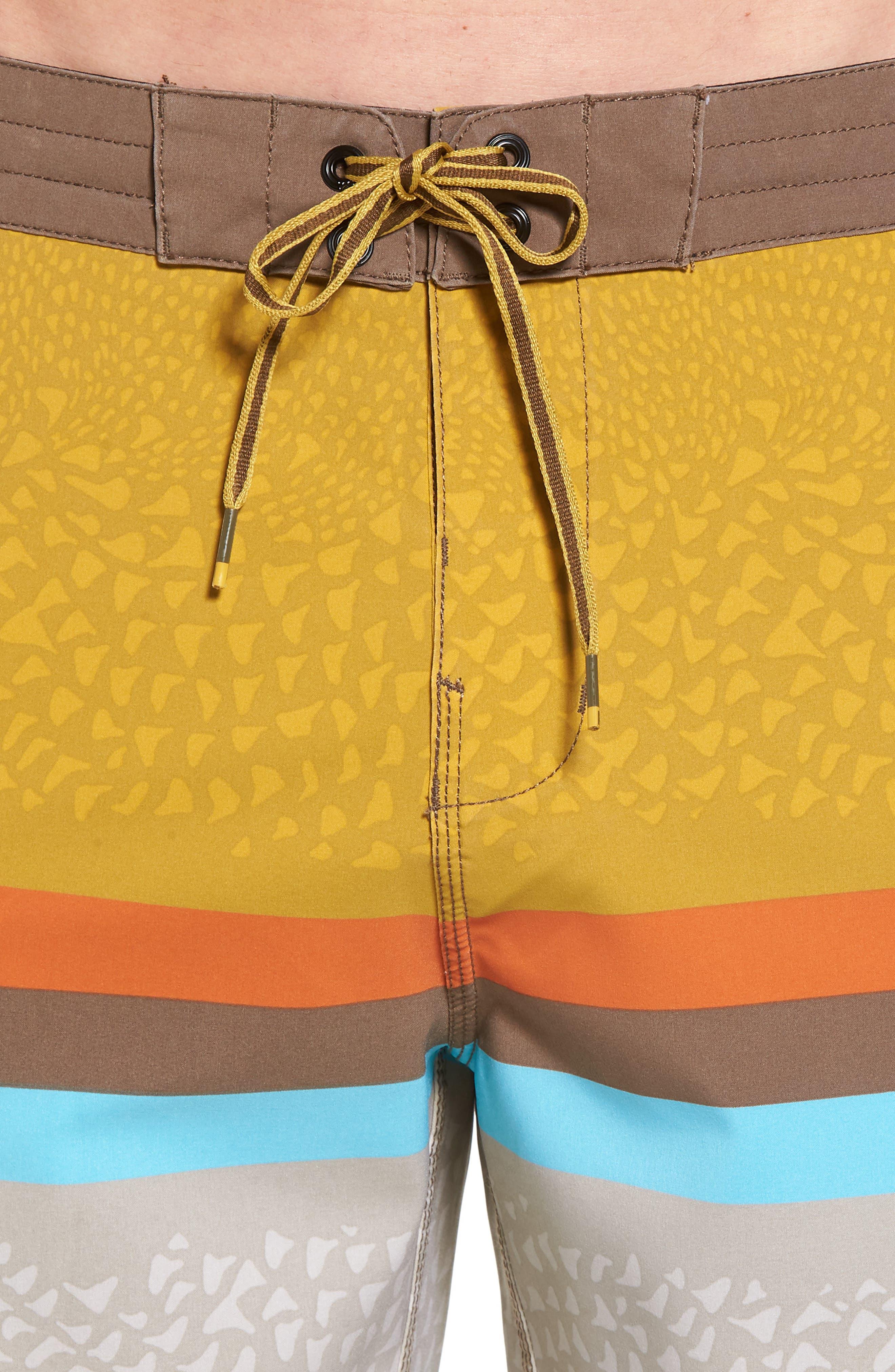 Fifty50 Low Tide Swim Trunks,                             Alternate thumbnail 4, color,                             Stone
