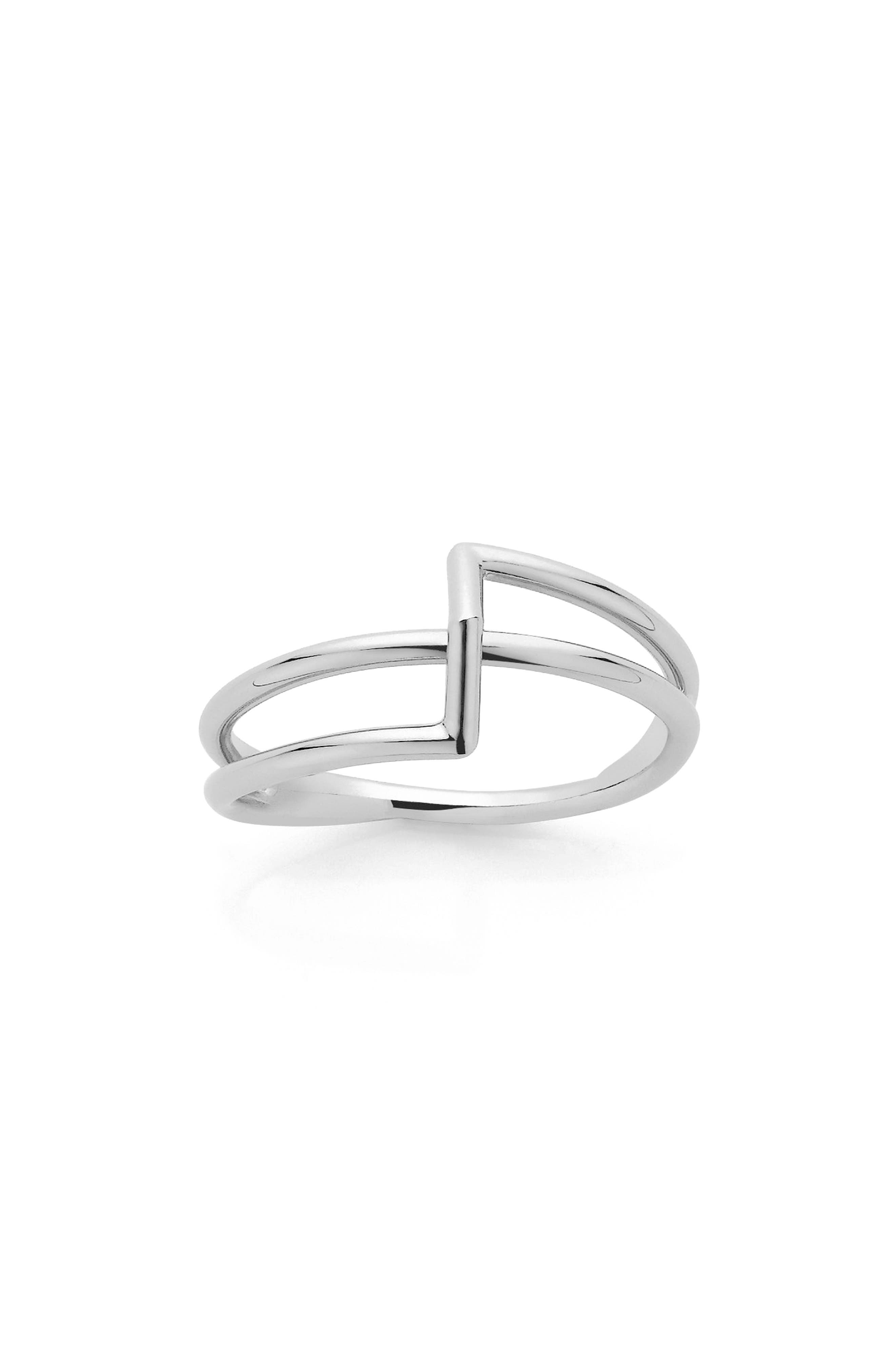 Bolt Ring,                             Main thumbnail 1, color,                             Sterling Silver