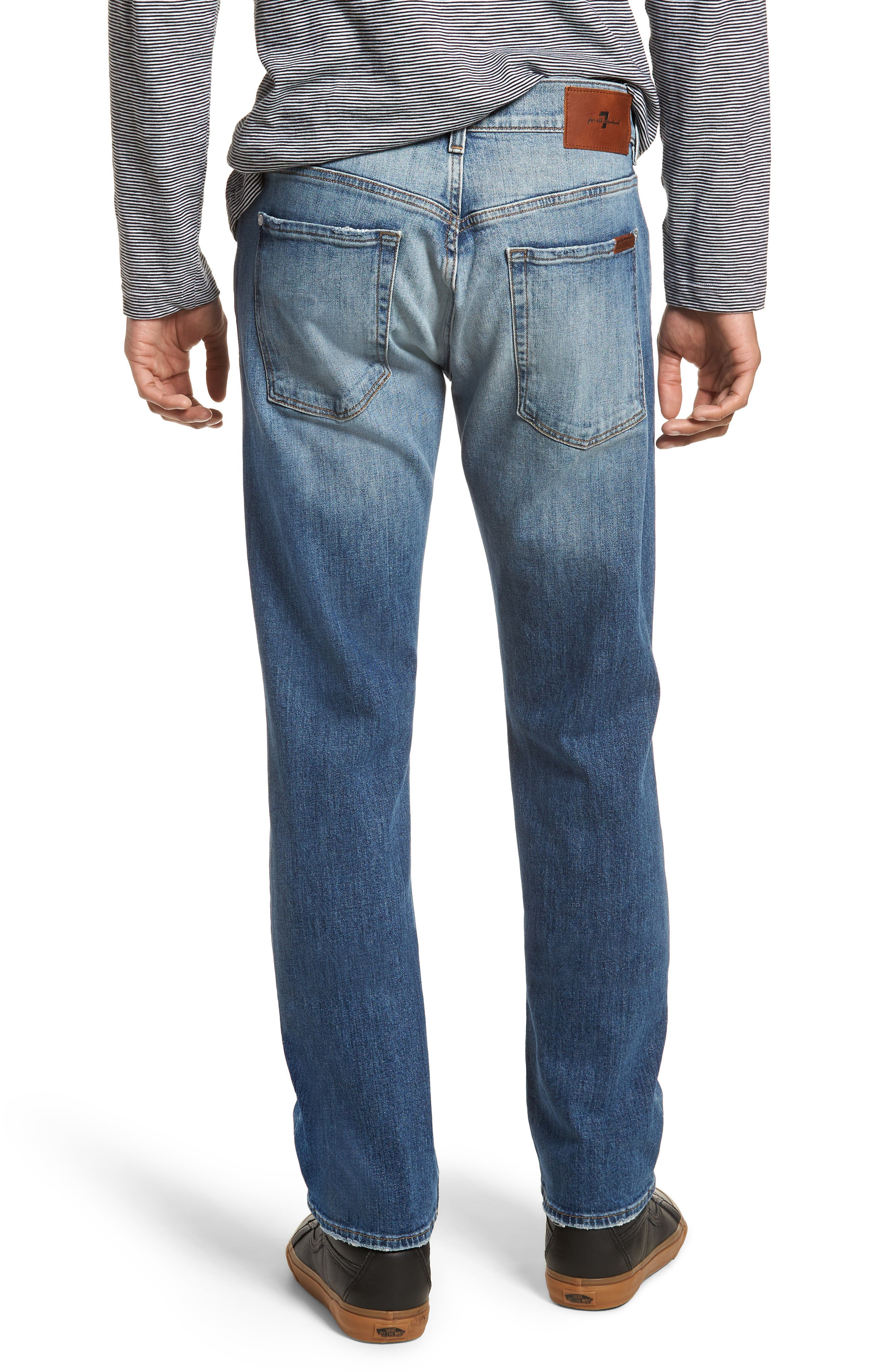 The Straight Slim Straight Leg Jeans,                             Alternate thumbnail 2, color,                             Free Agent Destroyed