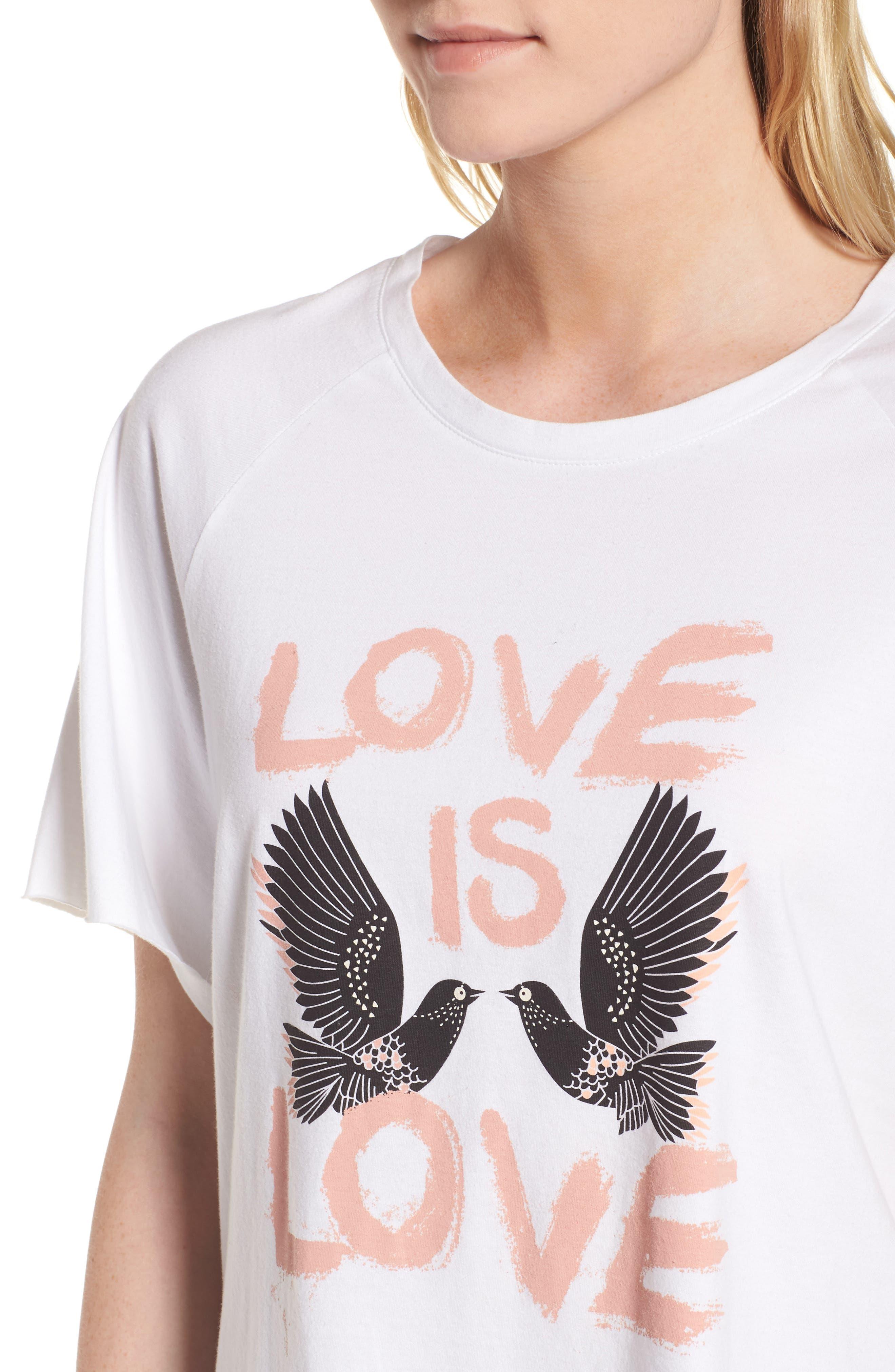 Love Birds Lombardo Tee,                             Alternate thumbnail 4, color,                             White/ Multi