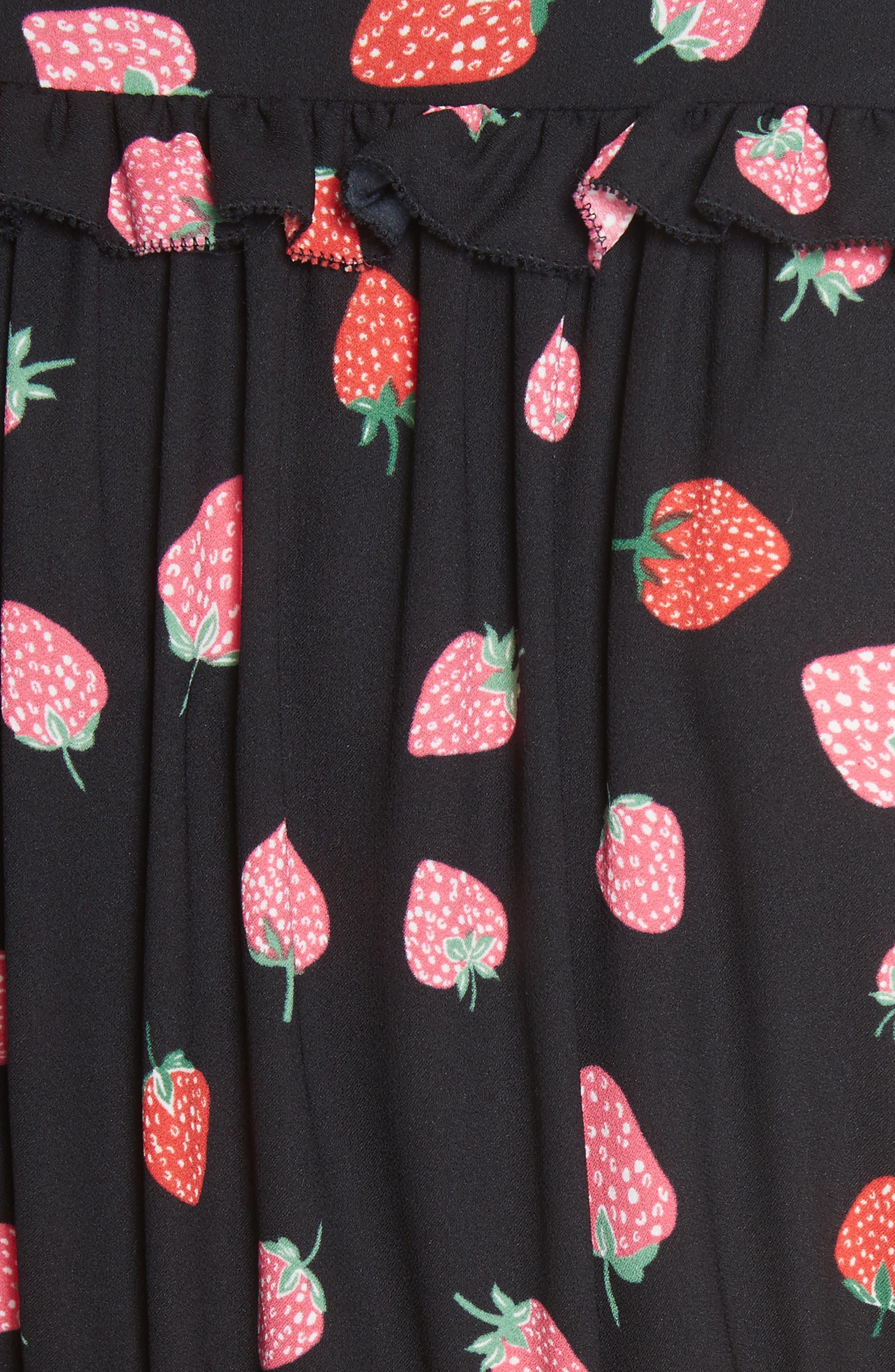 tossed berry shirtdress,                             Alternate thumbnail 5, color,                             Black