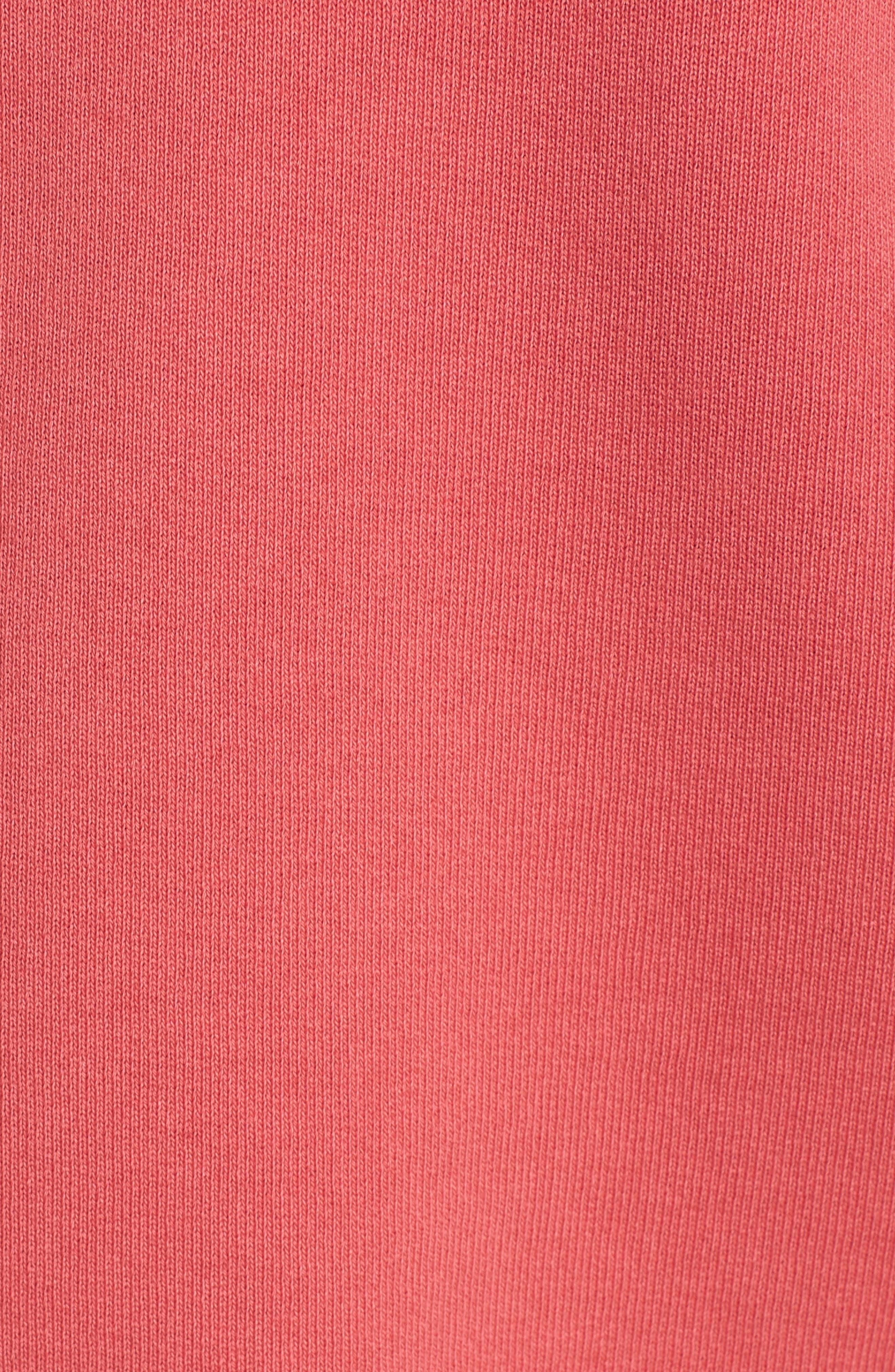 Zip Hoodie,                             Alternate thumbnail 5, color,                             Vintage Red