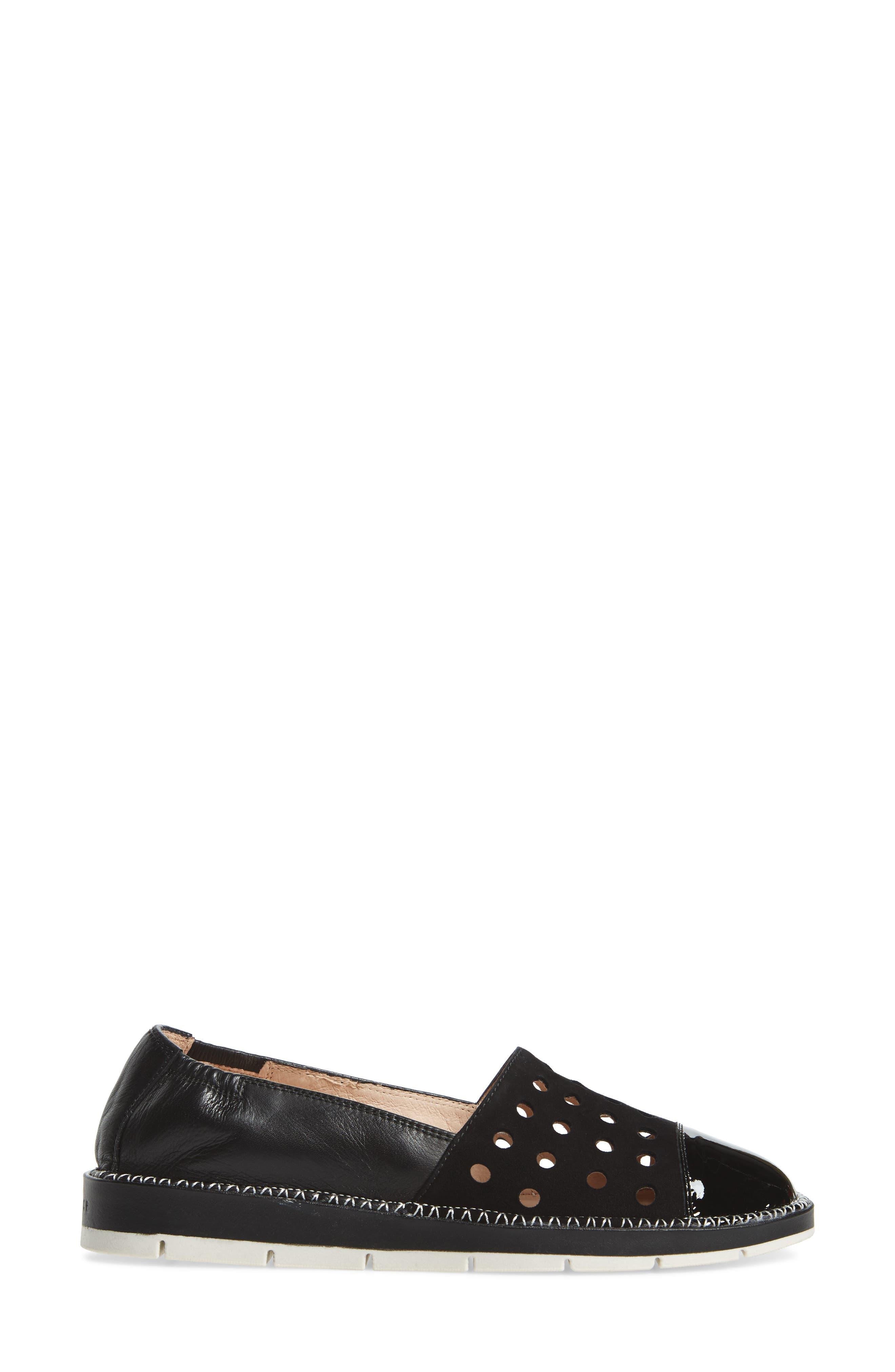Maiko Flat,                             Alternate thumbnail 3, color,                             Kaffir Black Leather