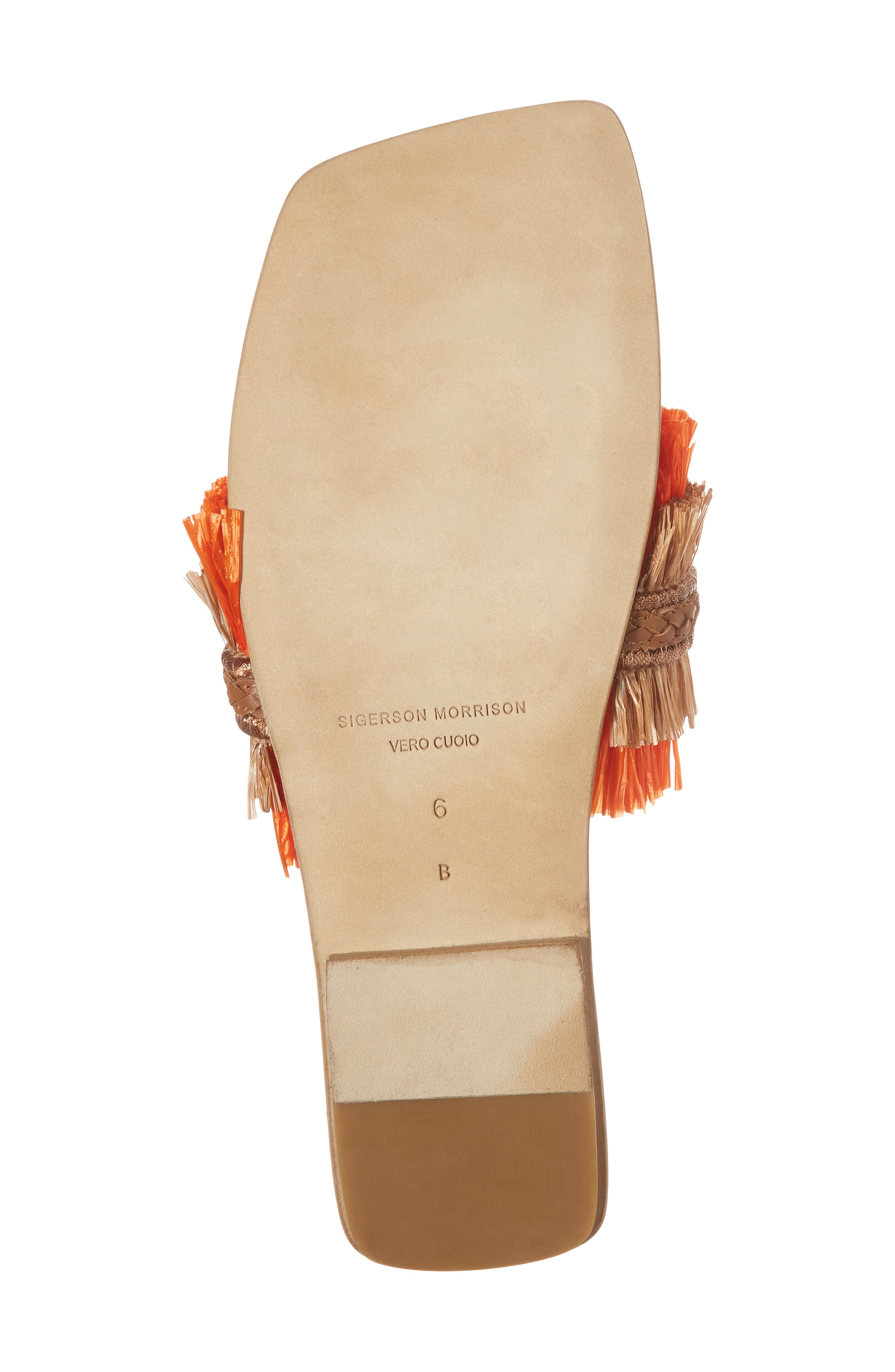 Woven Sandal,                             Alternate thumbnail 6, color,                             Tan/ Orange
