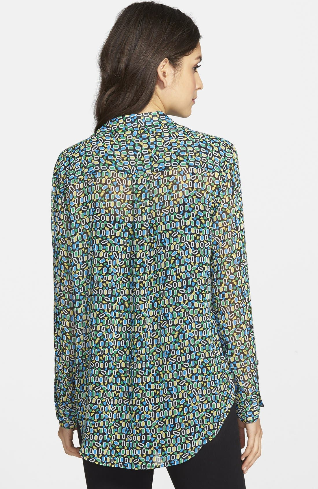 Alternate Image 2  - Two by Vince Camuto Print Shirt (Regular & Petite)