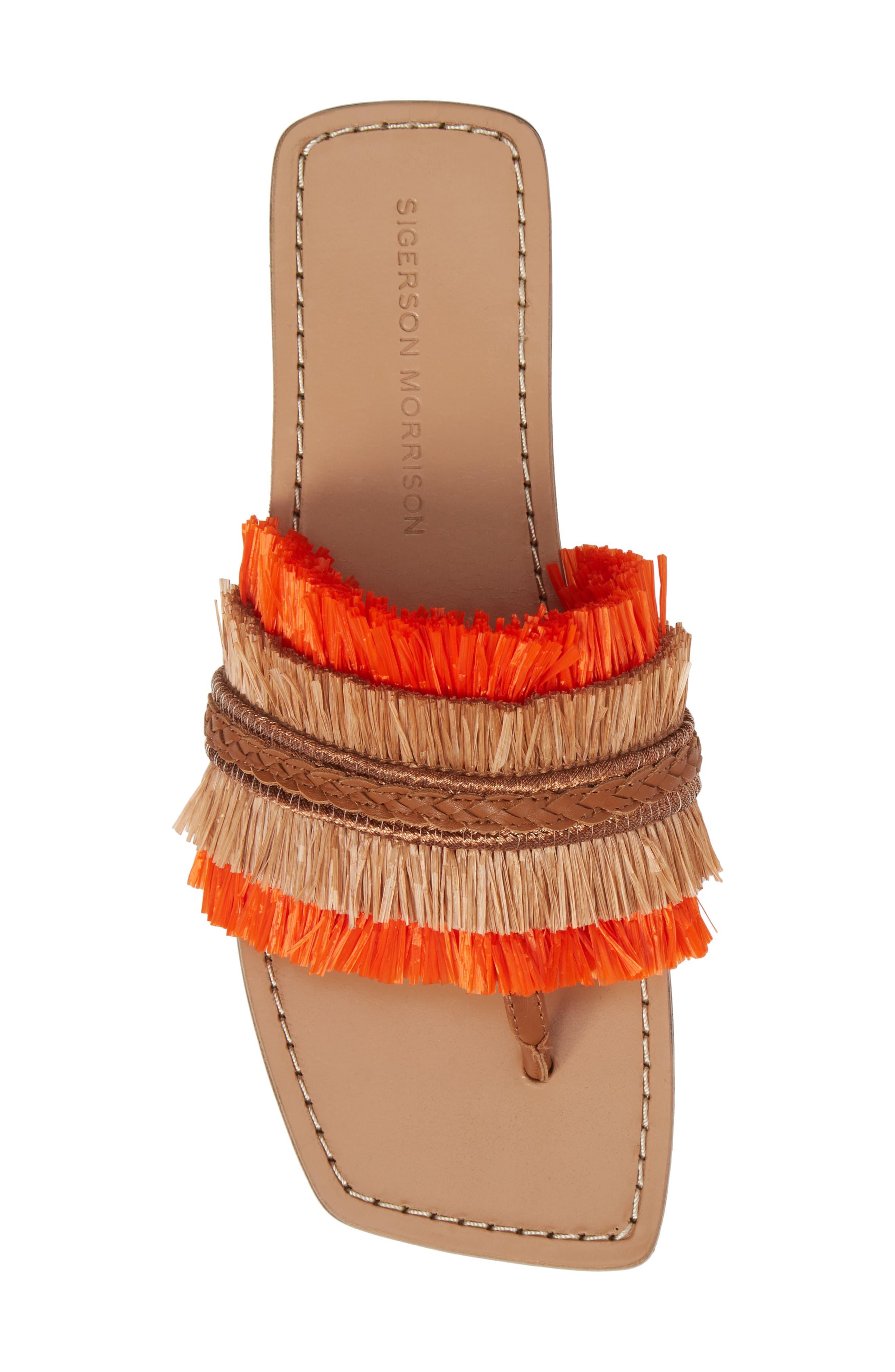 Woven Sandal,                             Alternate thumbnail 5, color,                             Tan/ Orange