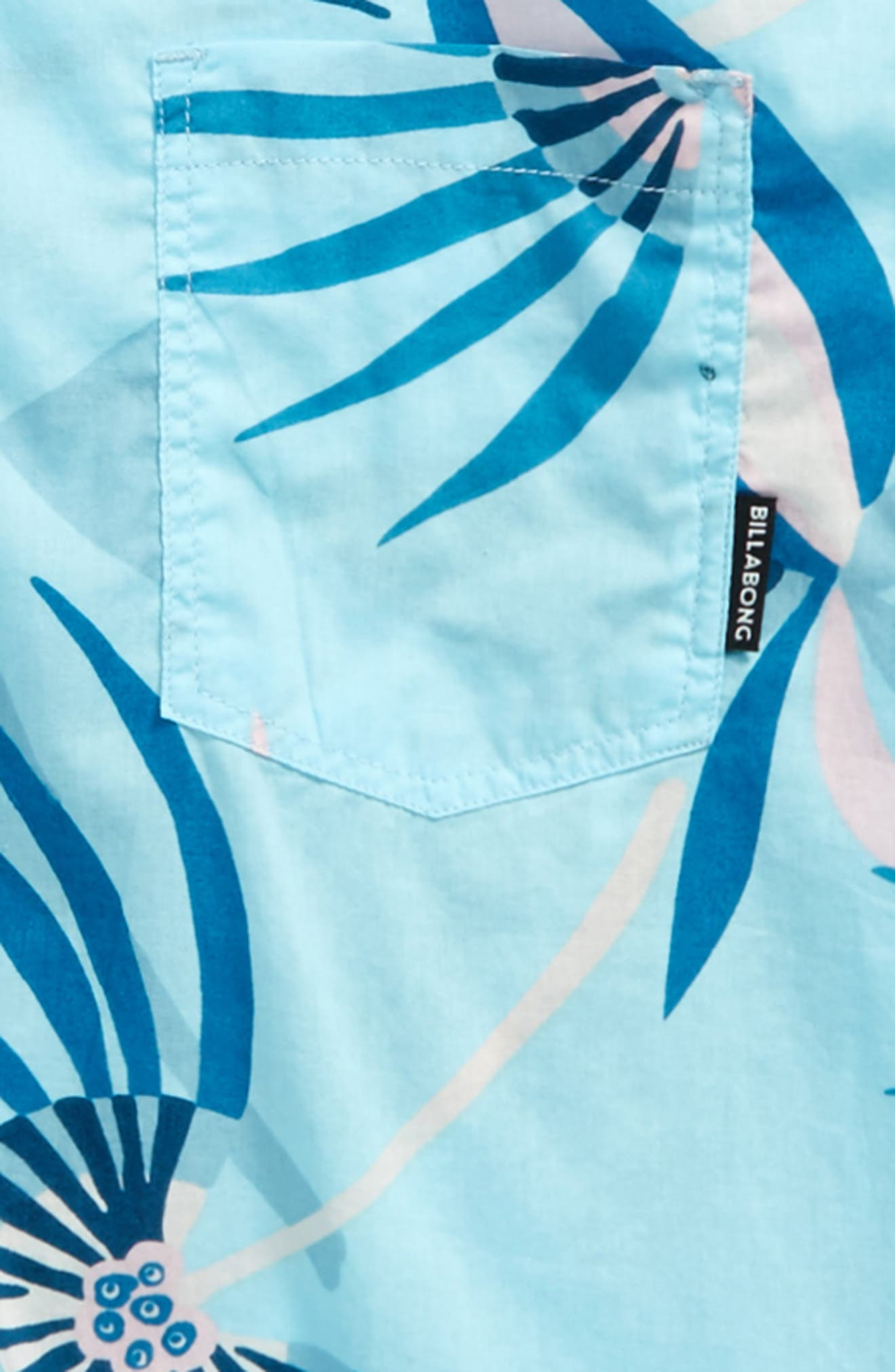 Sunday Floral Print Shirt,                             Alternate thumbnail 2, color,                             Blue