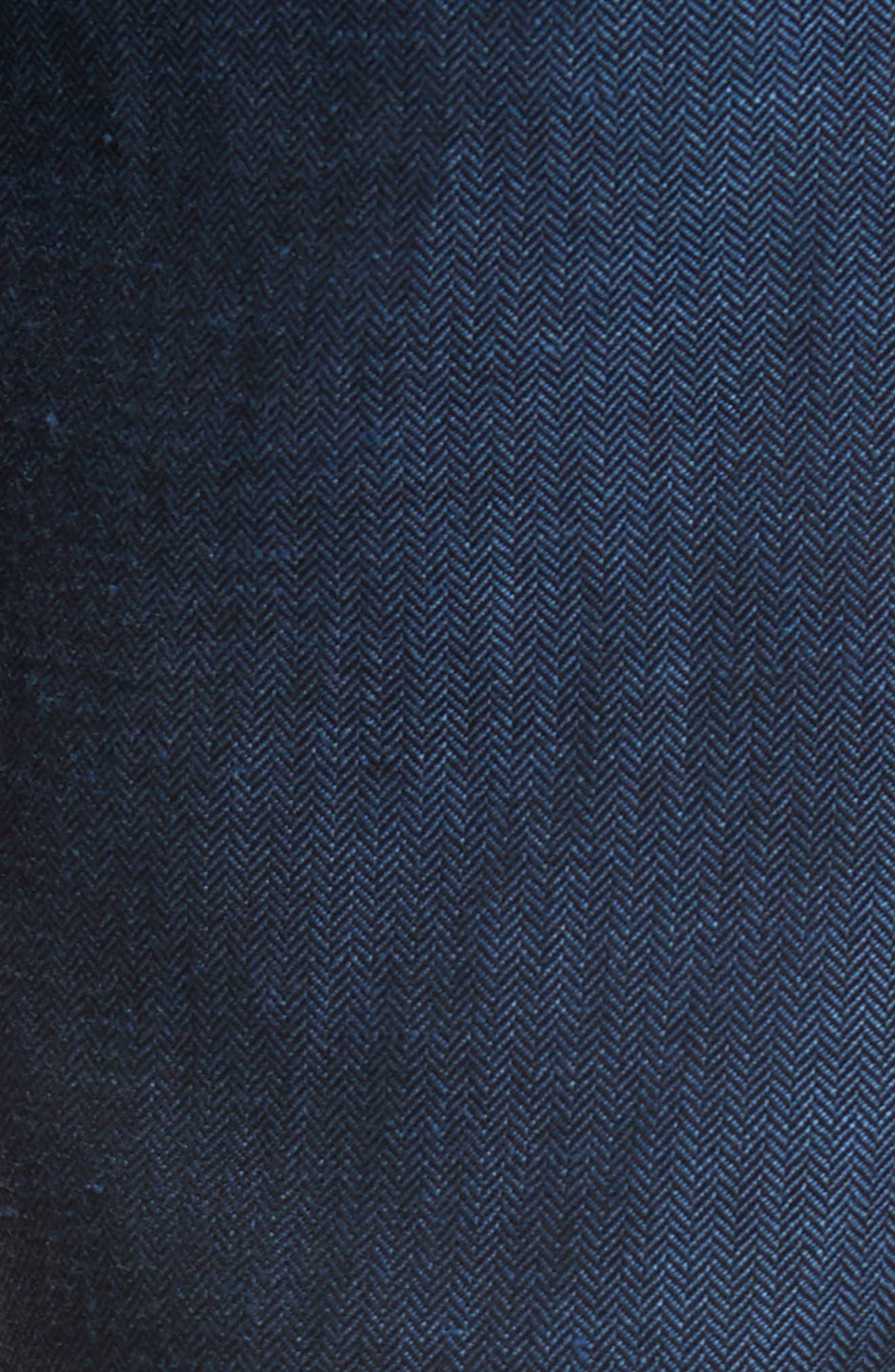 Cazzman Flat Front Stretch Pants,                             Alternate thumbnail 5, color,                             Navy