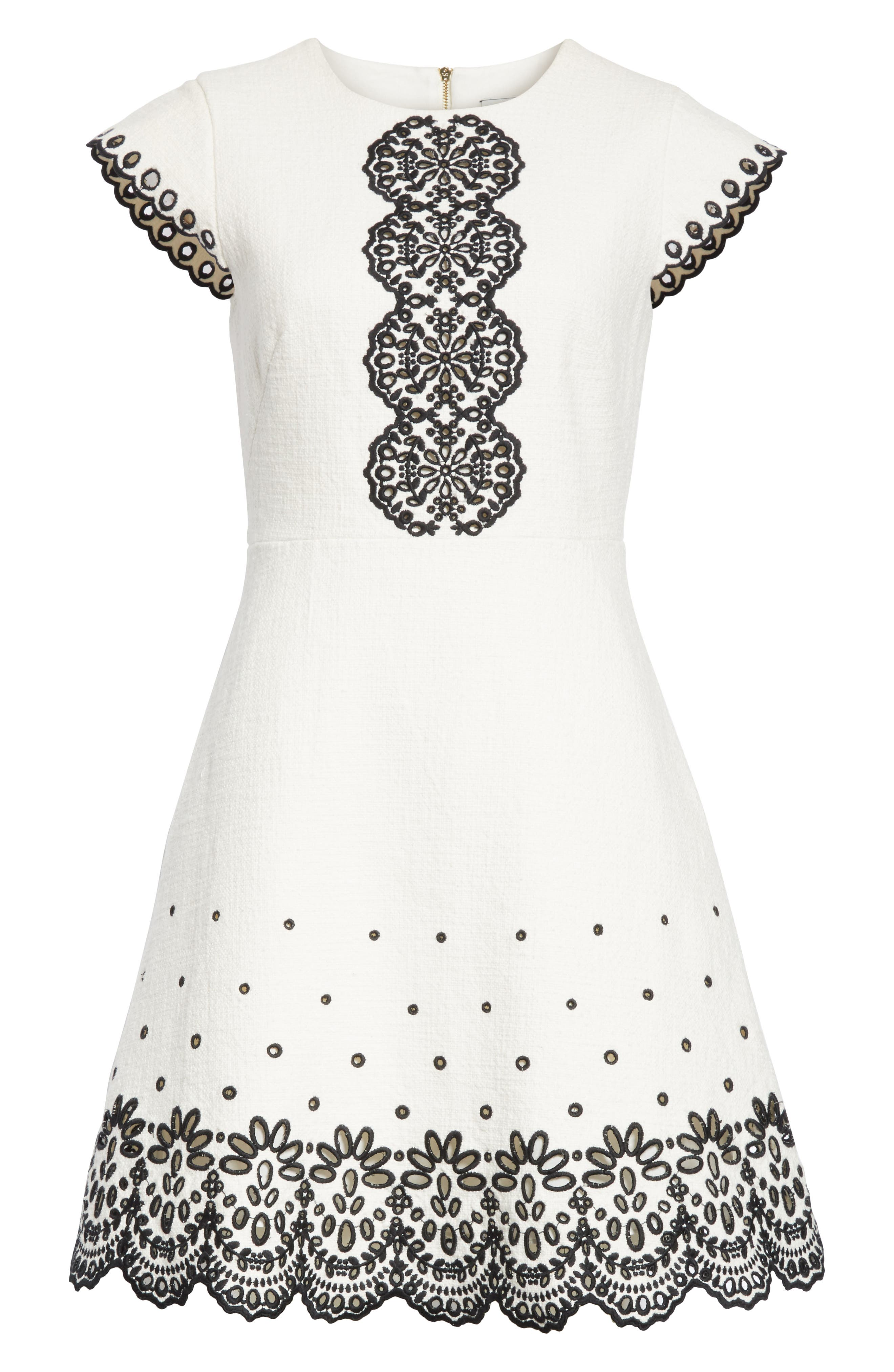 Alternate Image 6  - kate spade new york ria laser cut embroidered A-line dress