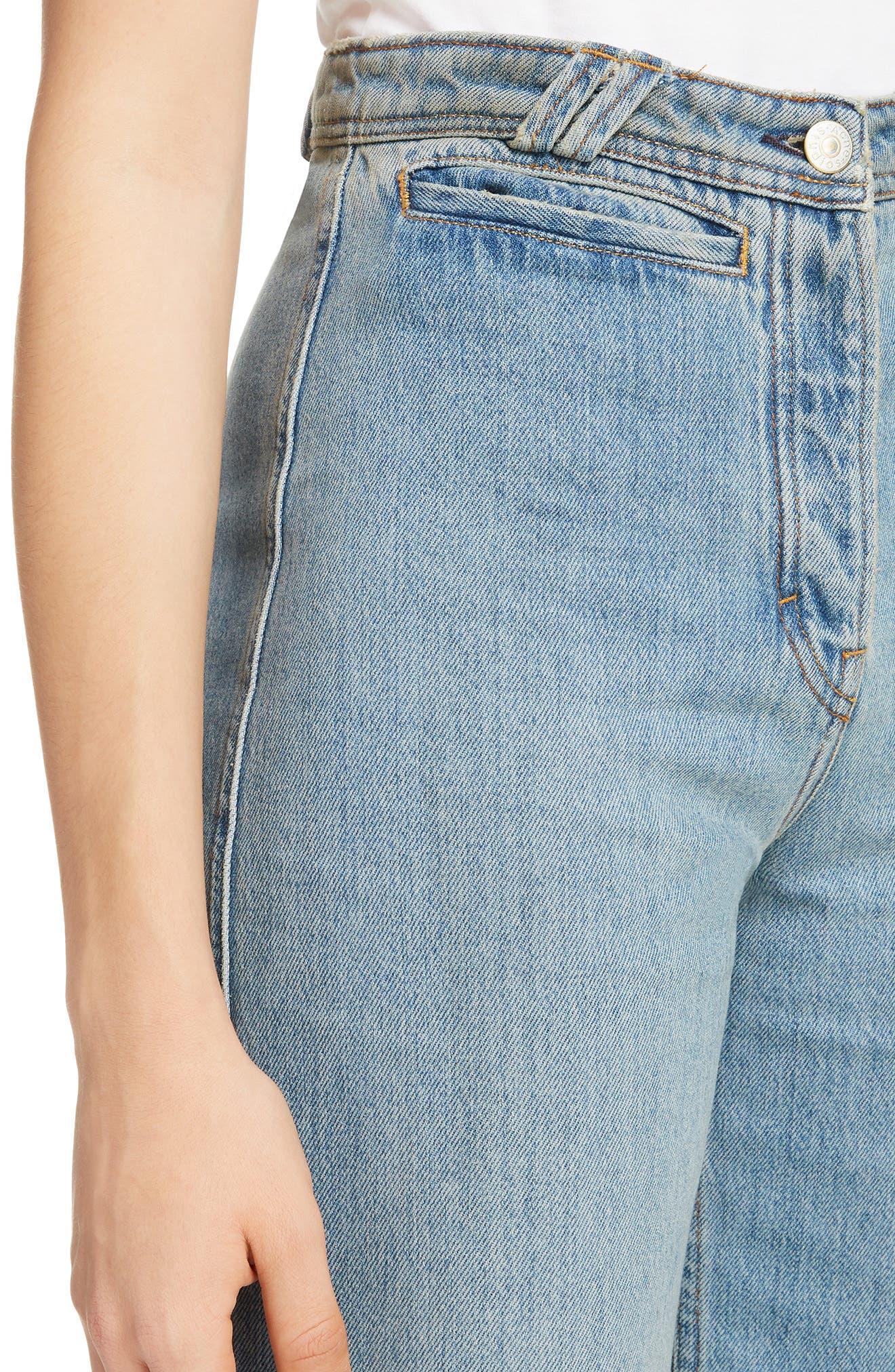 Tiffan Wide Leg Jeans,                             Alternate thumbnail 5, color,                             Blue Vintage