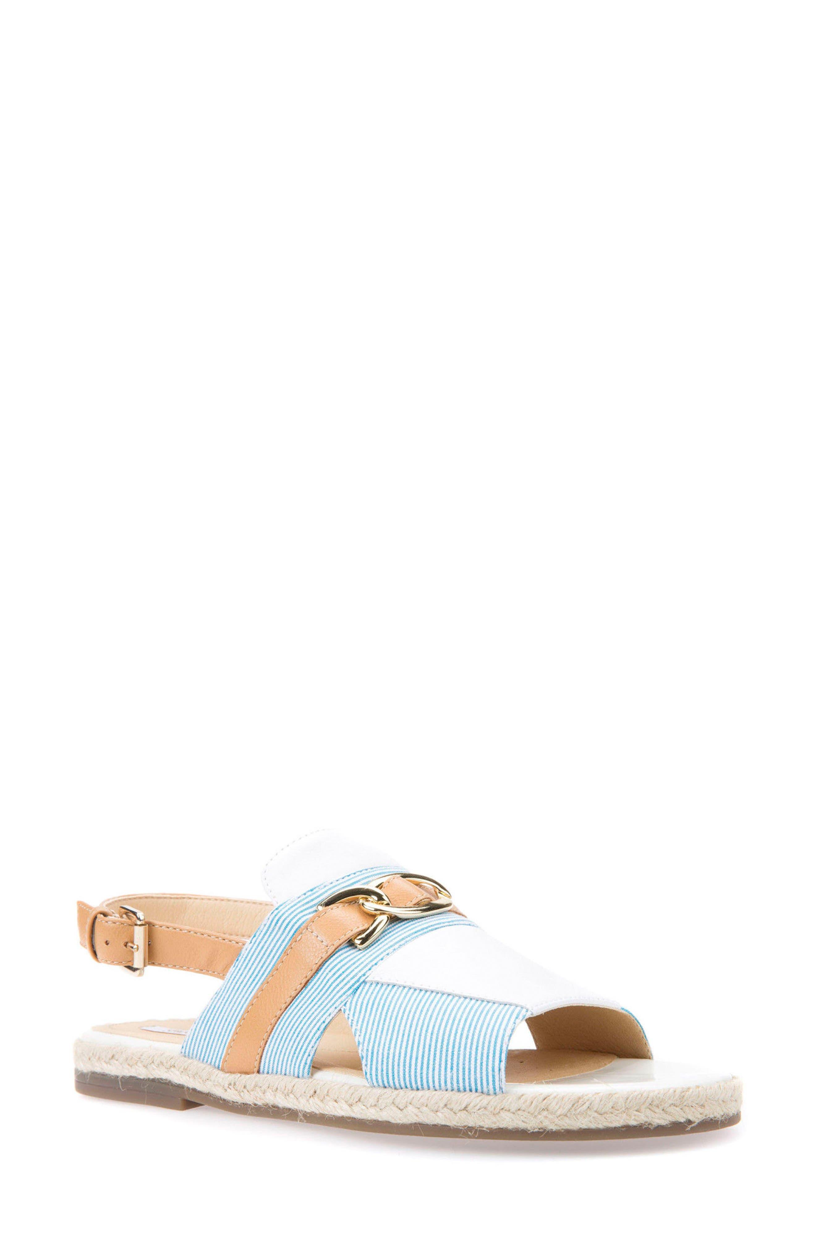 Kolleen Sandal,                         Main,                         color, Petrol/ Caramel