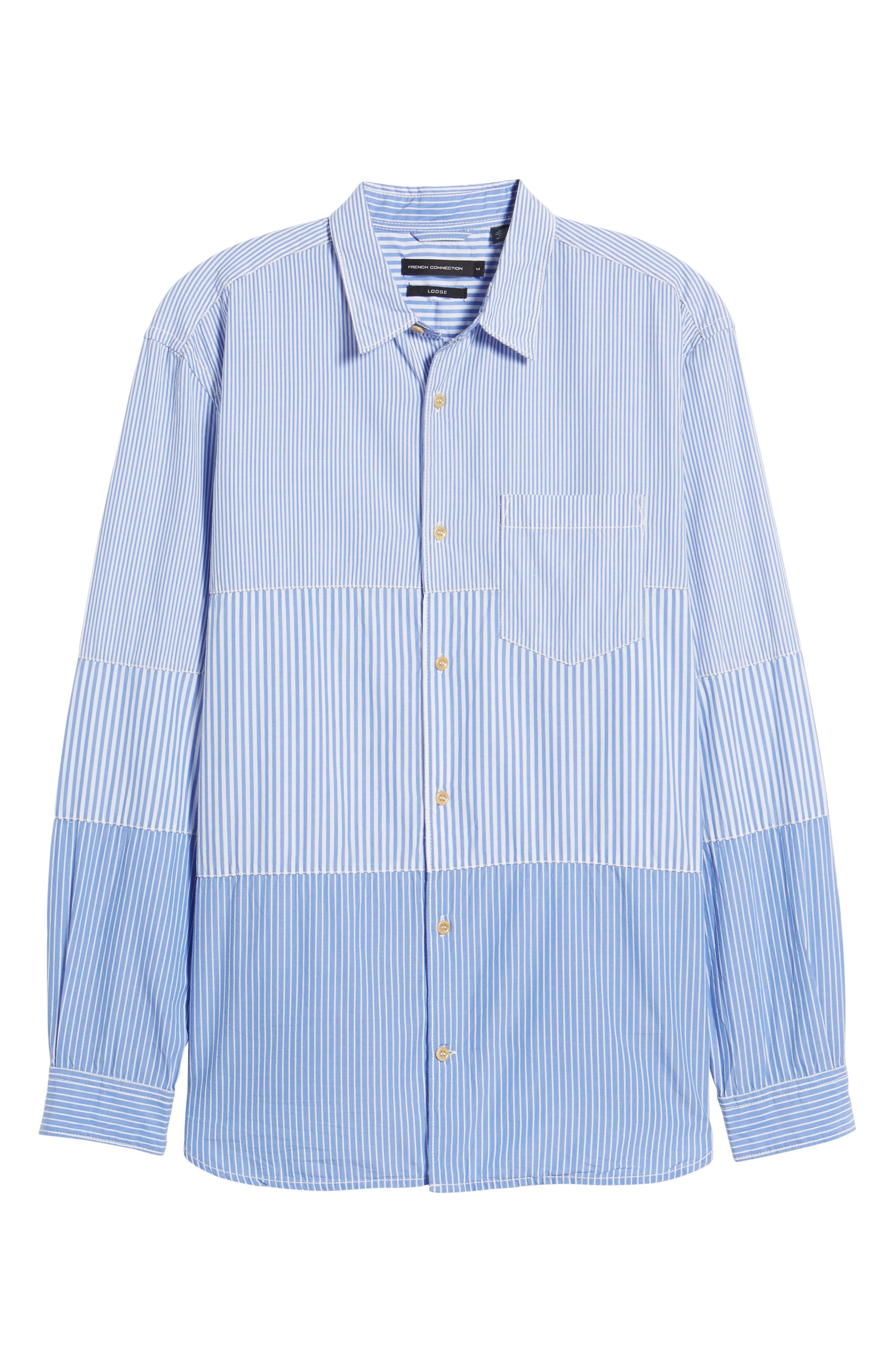 Regular Fit Stripe Sport Shirt,                             Alternate thumbnail 6, color,                             All Stripe