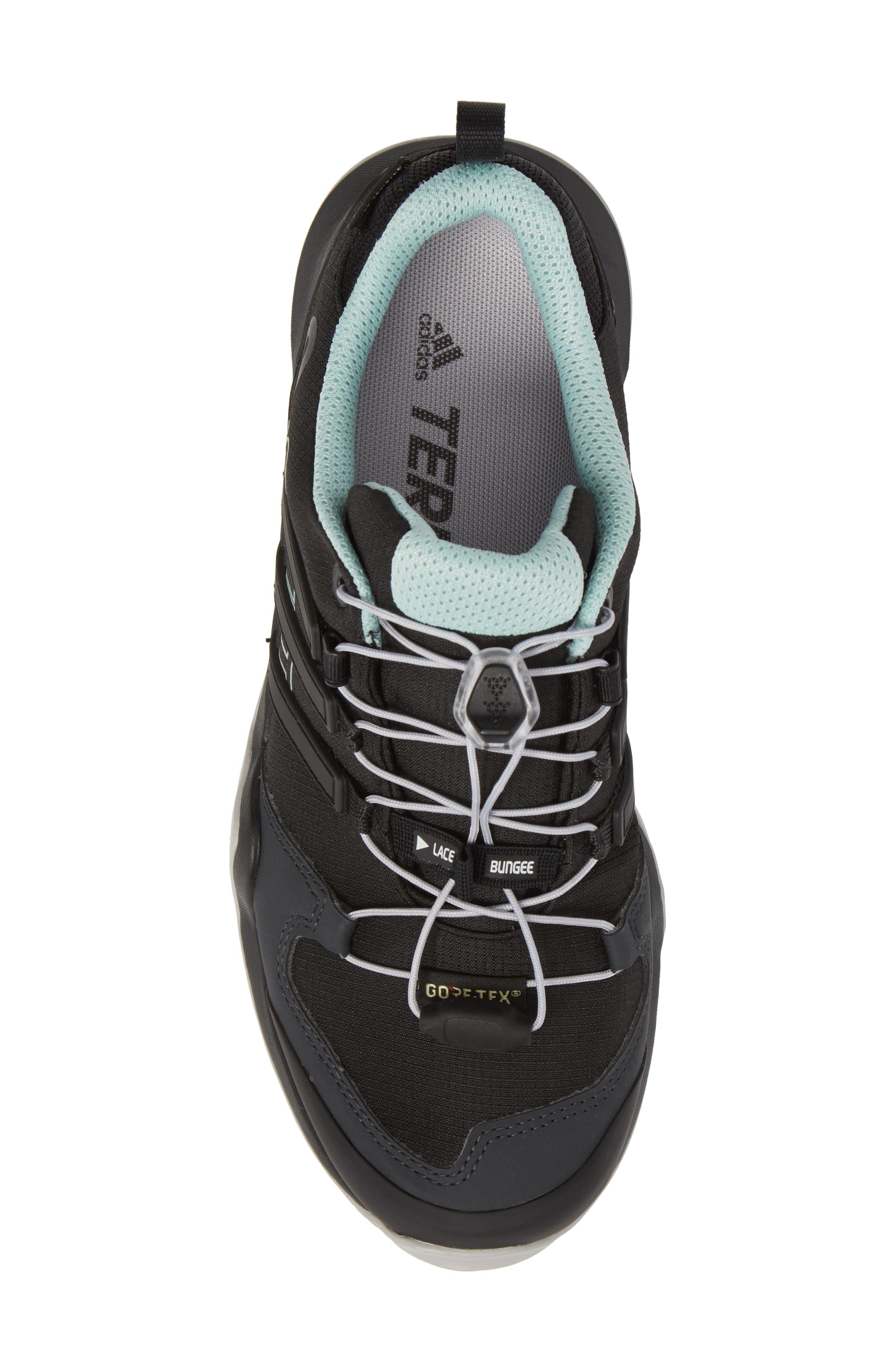 Terrex Swift R2 Gore-Tex<sup>®</sup> Hiking Shoe,                             Alternate thumbnail 5, color,                             Black/ Black/ Ash Green
