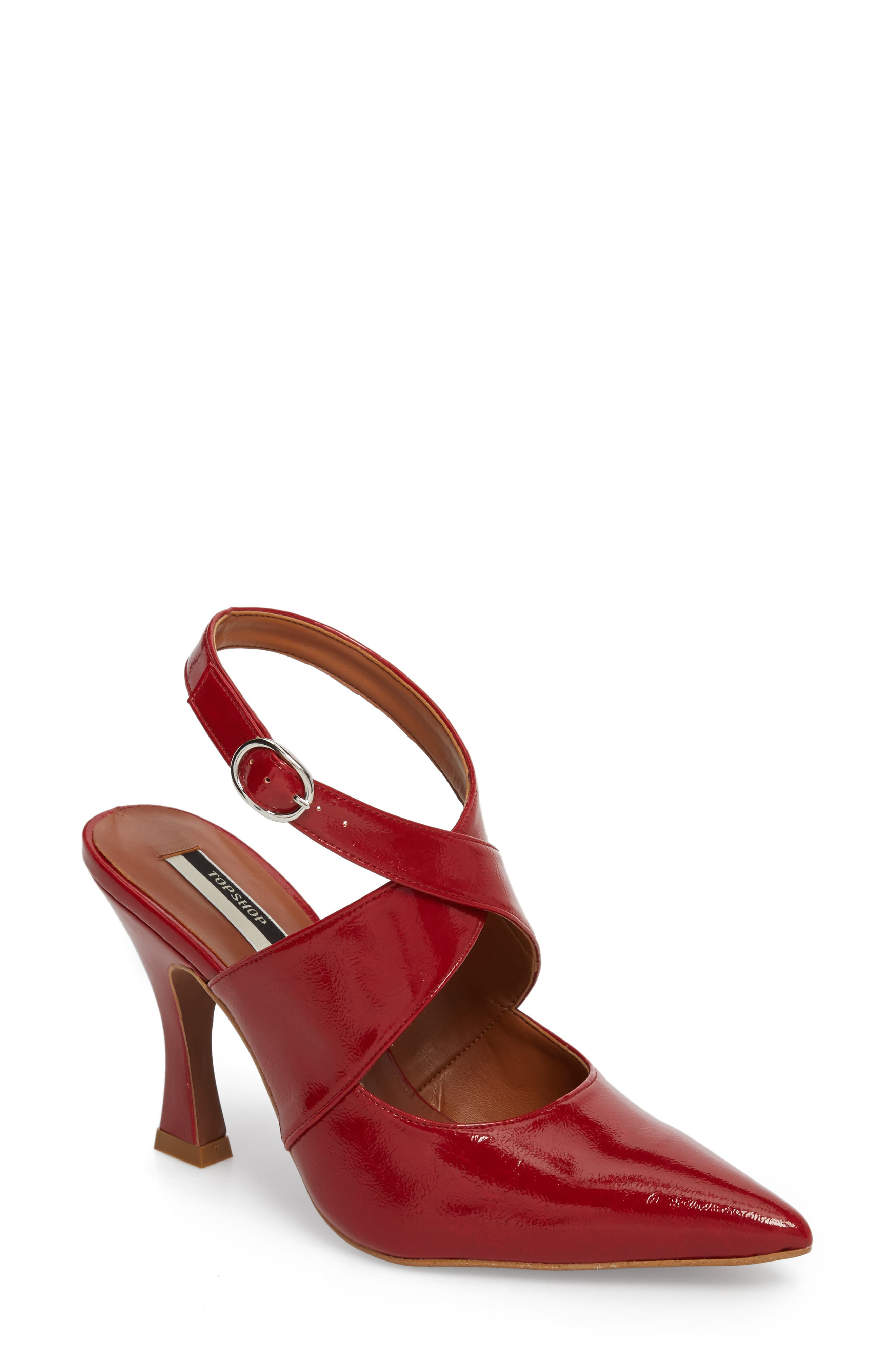 Galactic Pointy Toe Pump,                         Main,                         color, Red