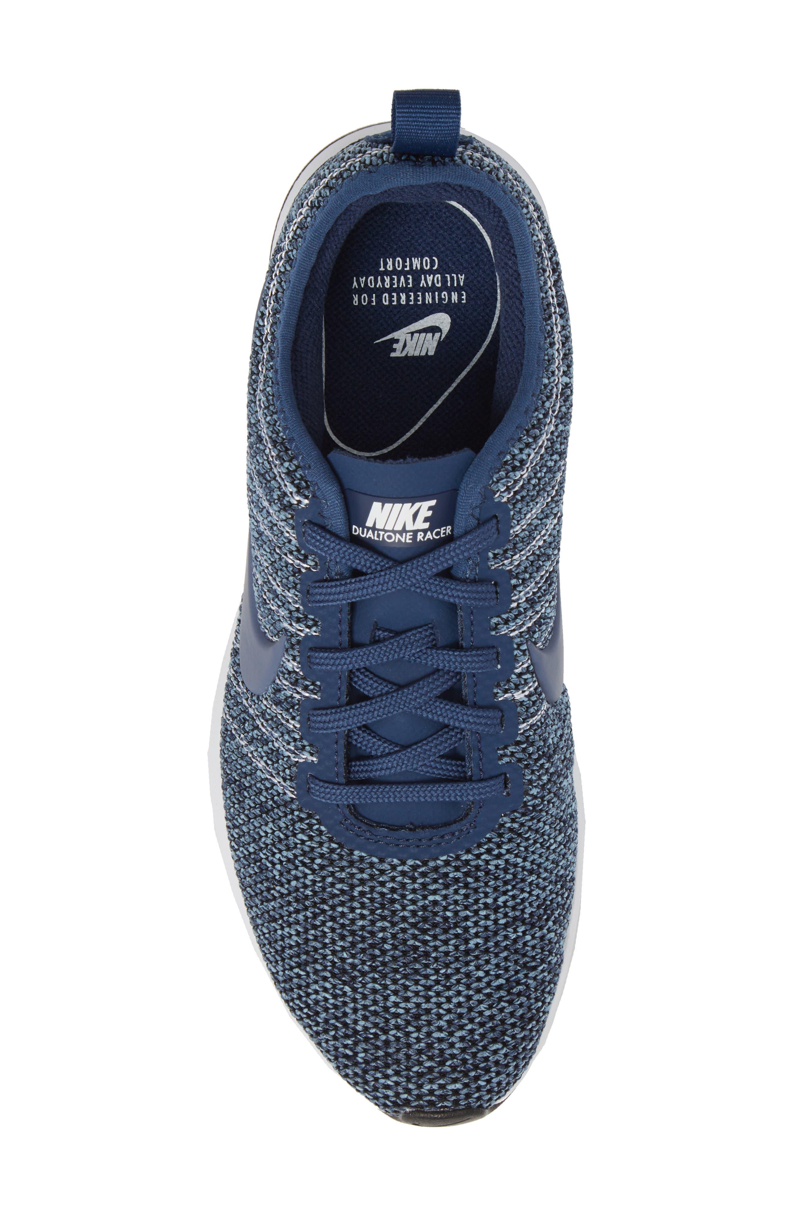 Dualtone Racer PRM Sneaker,                             Alternate thumbnail 5, color,                             Navy/ Diffused Blue