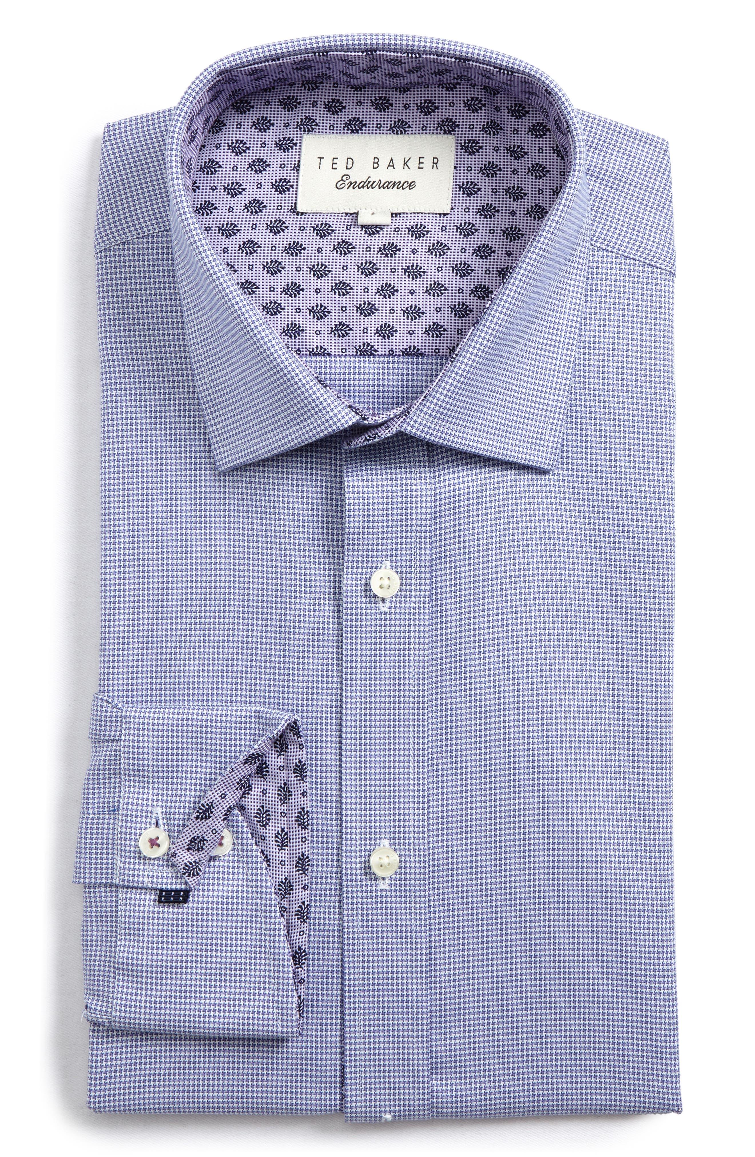 Endurance Renton Trim Fit Dress Shirt,                             Main thumbnail 1, color,                             Purple
