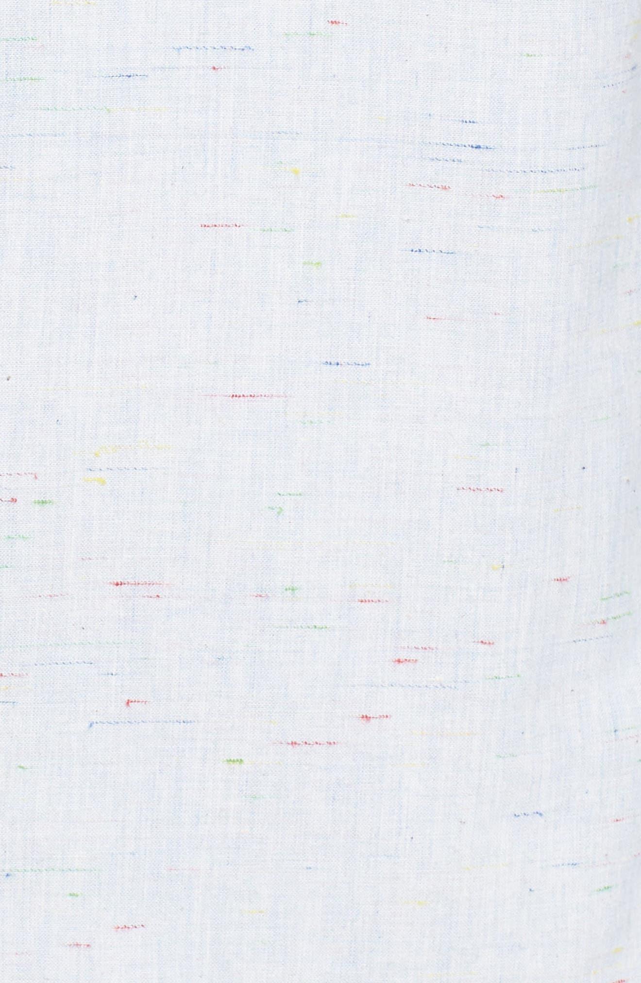Long Sleeve Color Nep Shirt,                             Alternate thumbnail 5, color,                             Blue Chambray Multi Nep