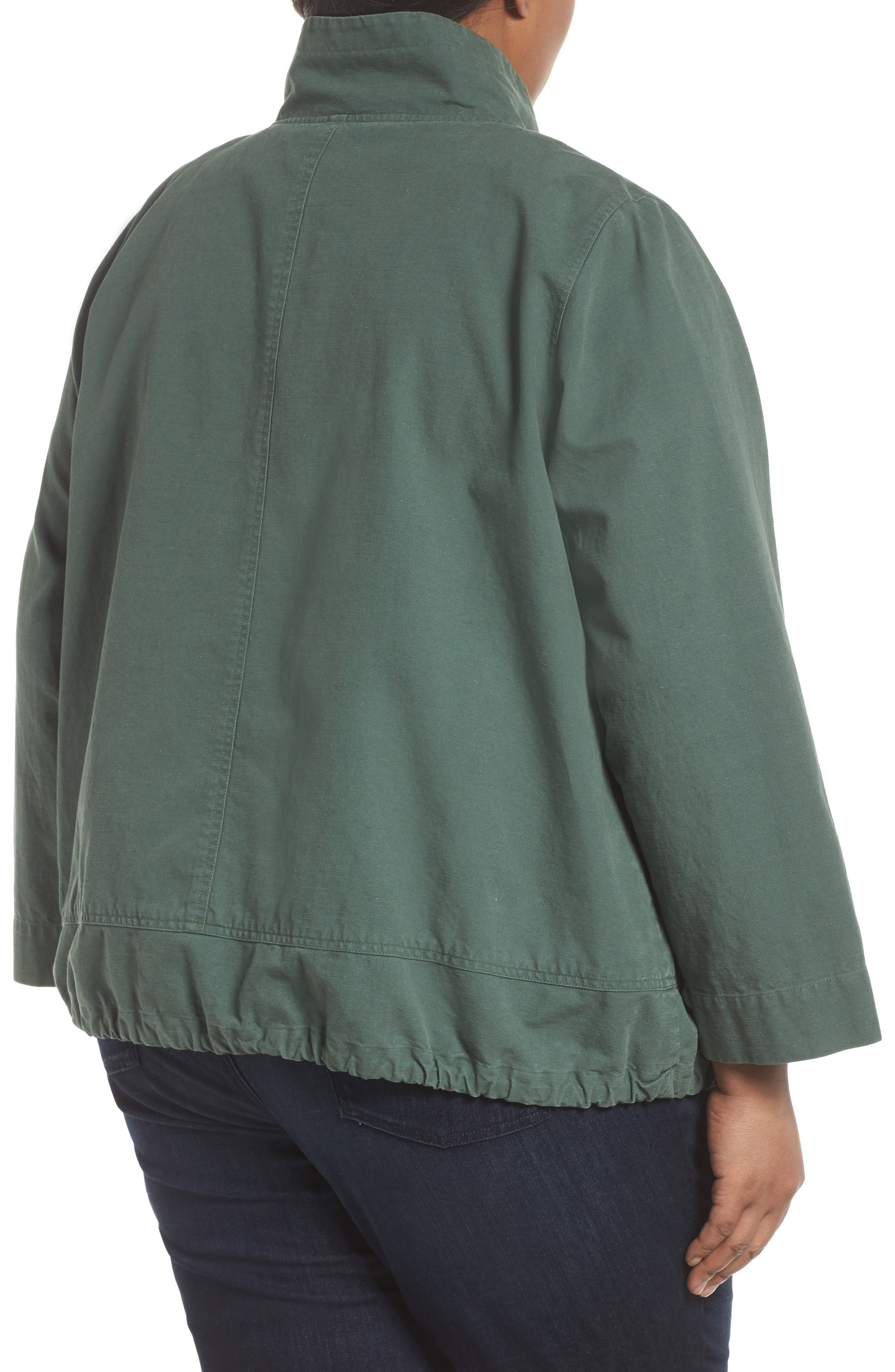 Stand Collar Jacket,                             Alternate thumbnail 3, color,                             Nori