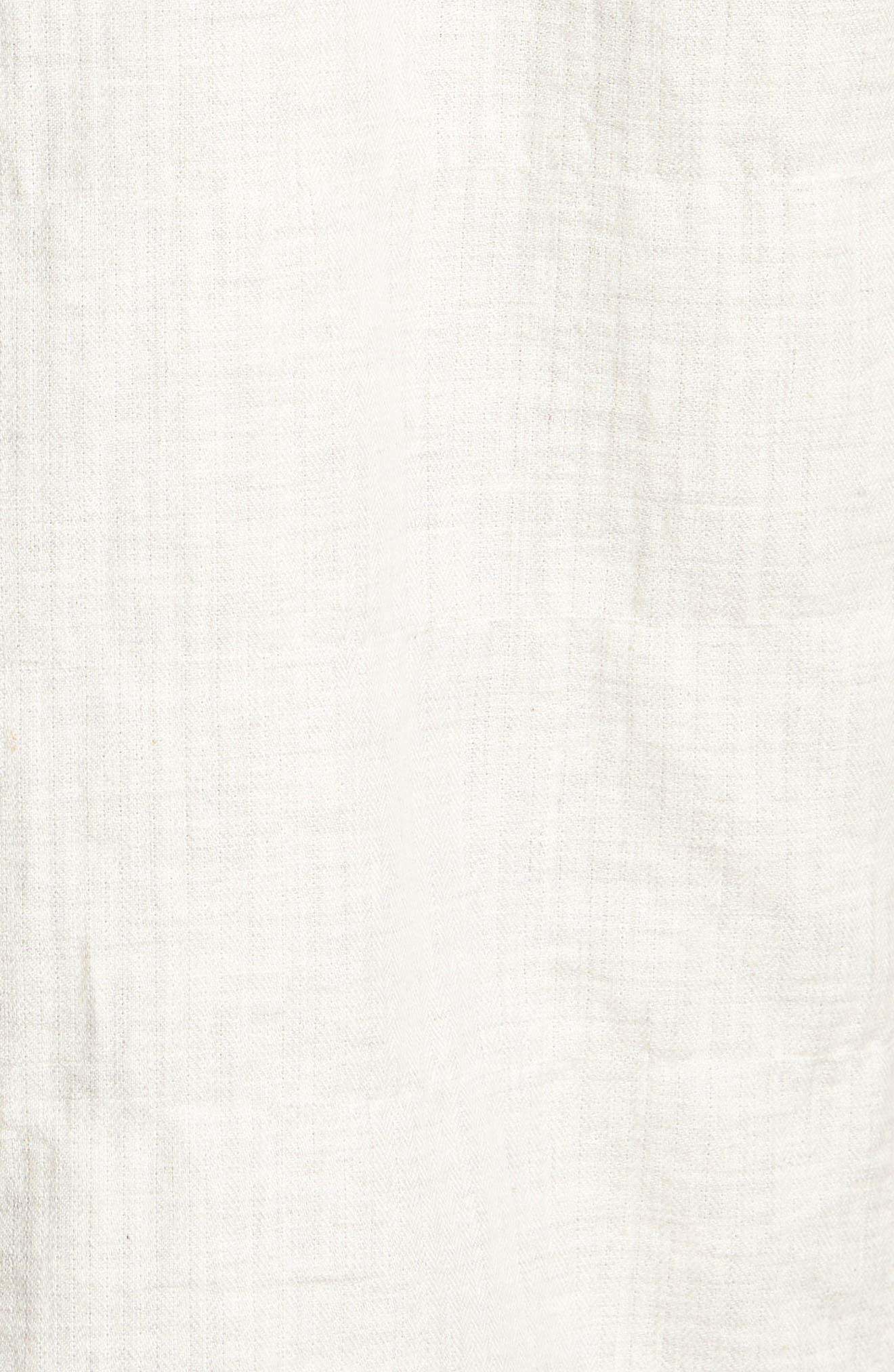 Herringbone Longline Shirt,                             Alternate thumbnail 6, color,                             Ivory Egret Herringbone